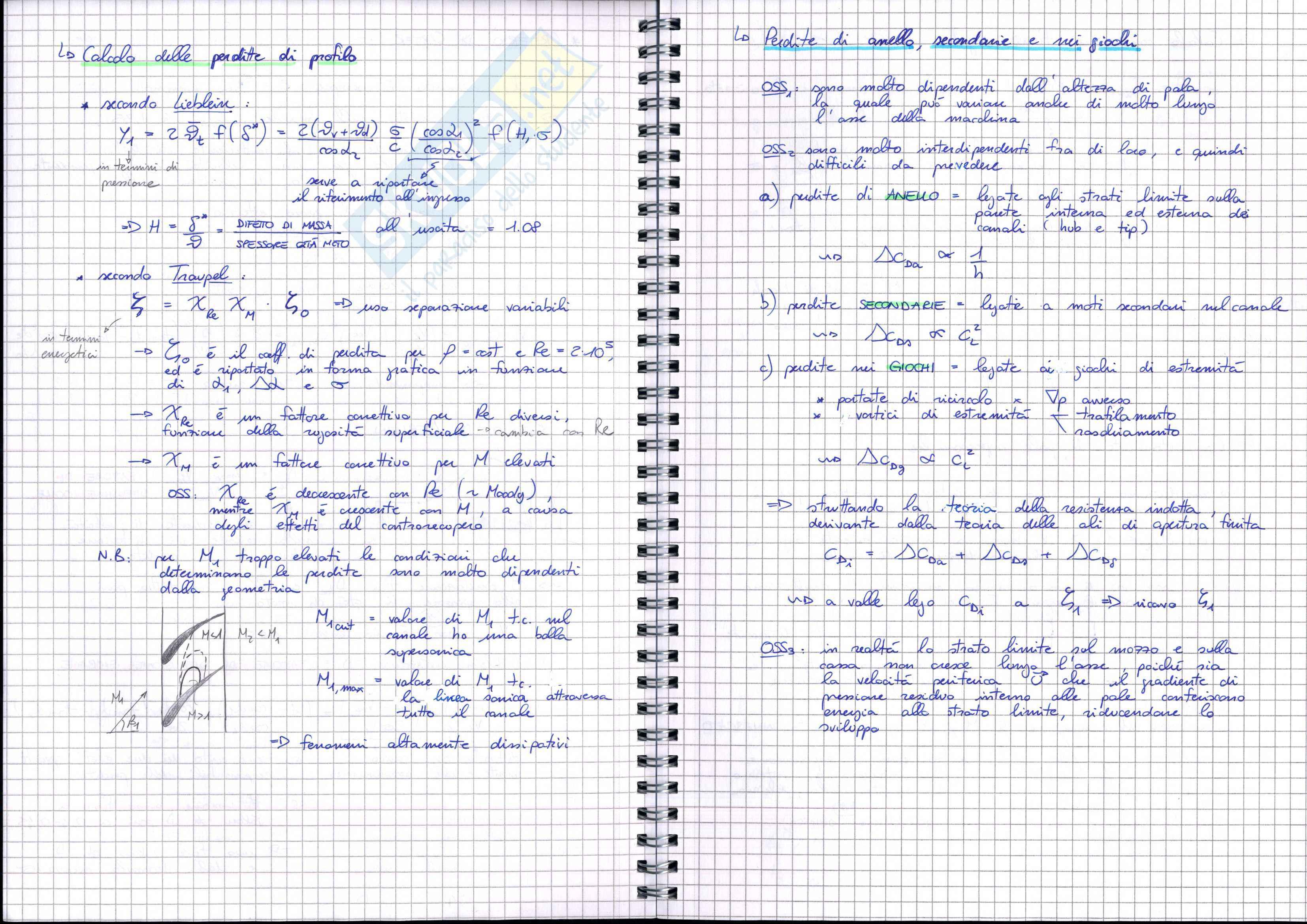 Fluidodinamica delle turbomacchine - Appunti Pag. 36