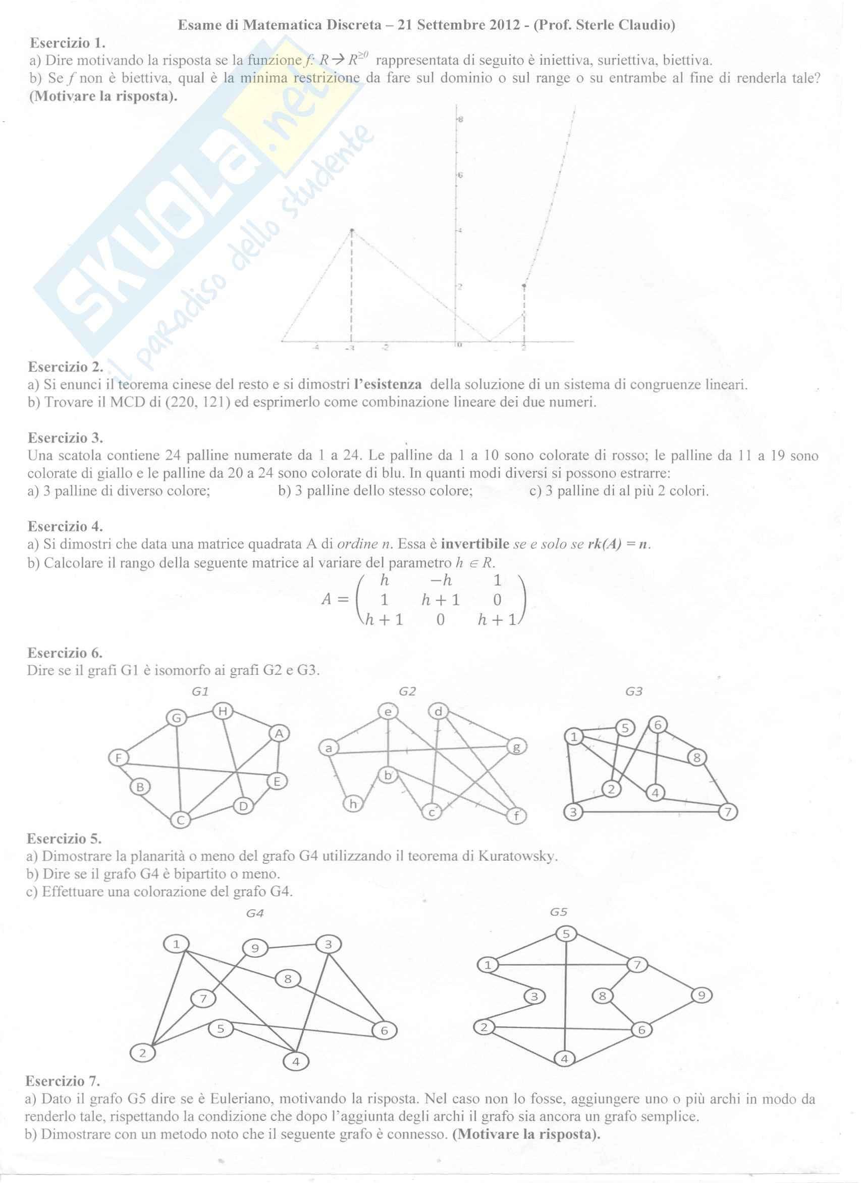 Matematica Discreta - Esercizi