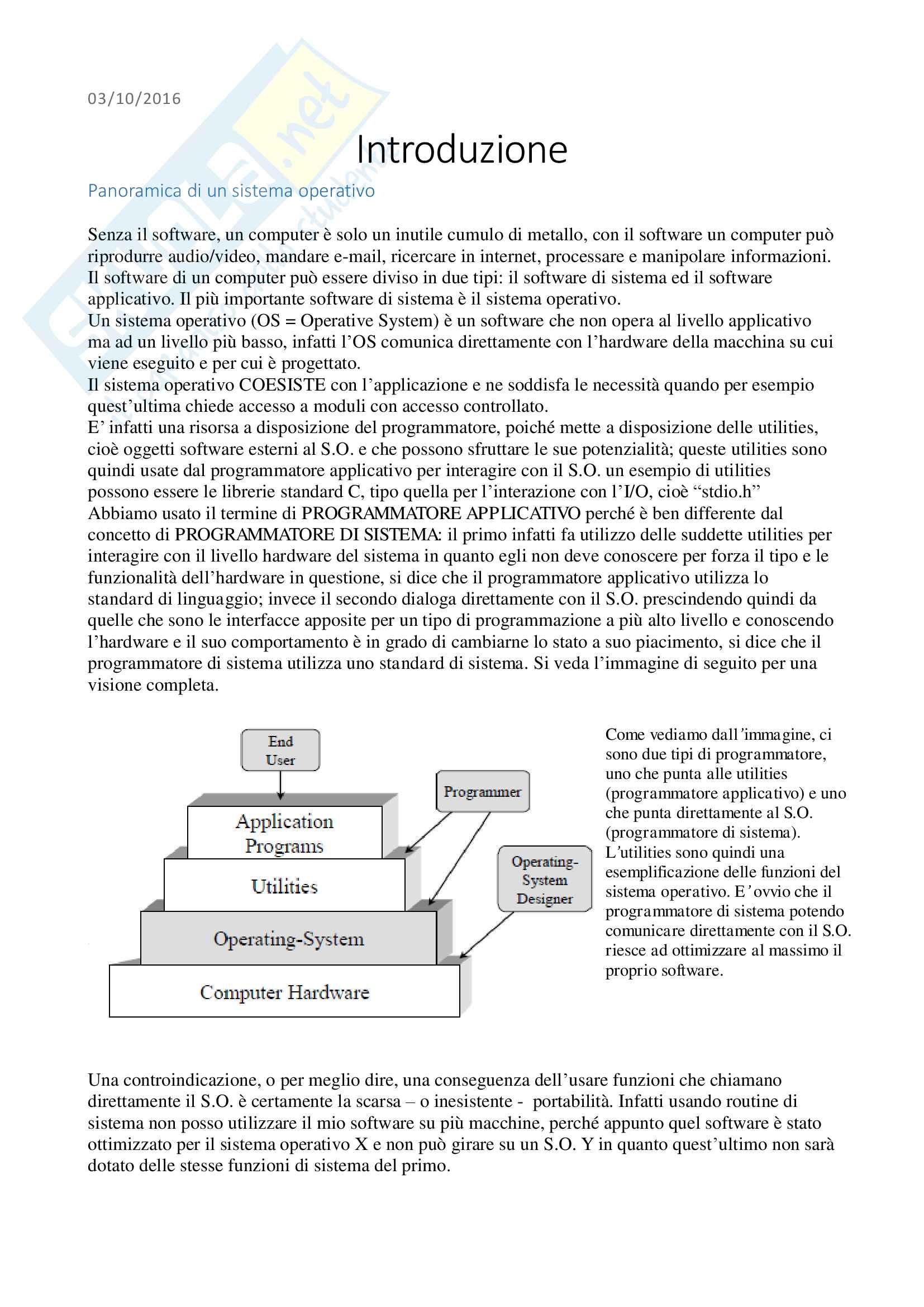 Sistemi Operativi - Appunti