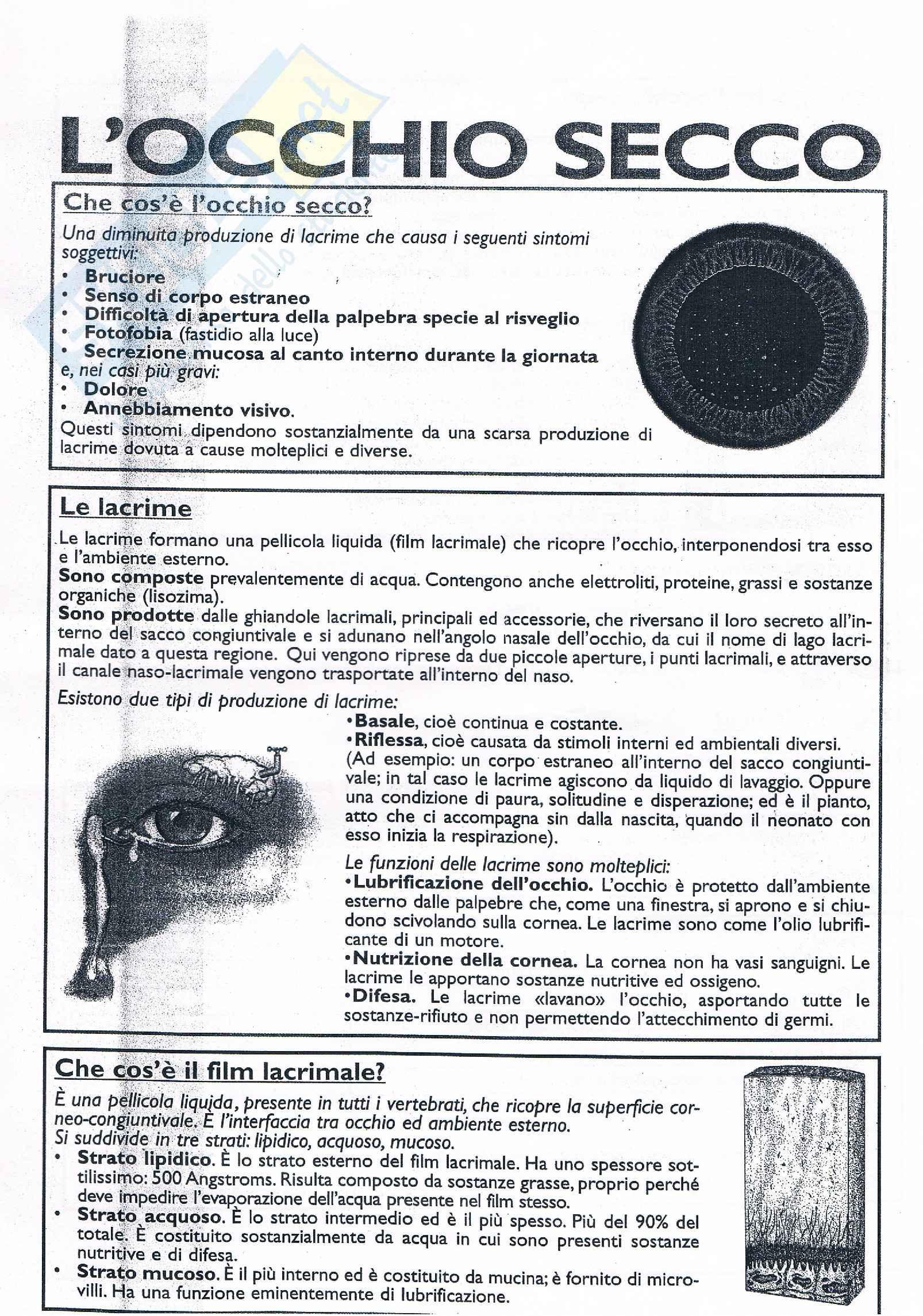 Occhio Secco - Oftalmologia