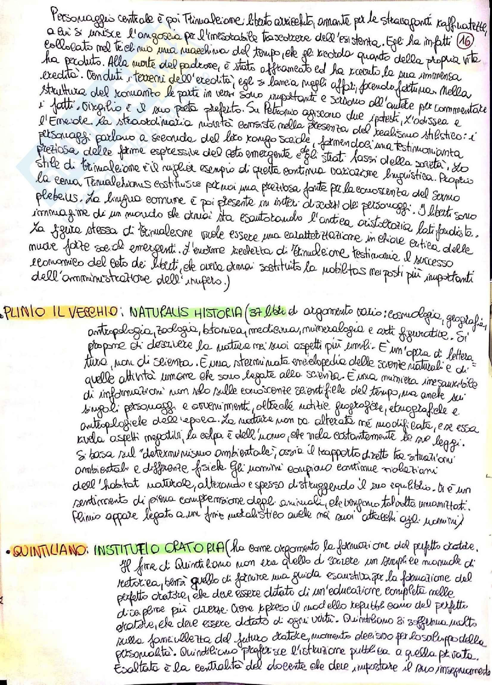 Riassunto esame Lingua e letteratura latina I, prof. Berno, libro consigliato Storia letteraria di Roma, P. Fedeli Pag. 16