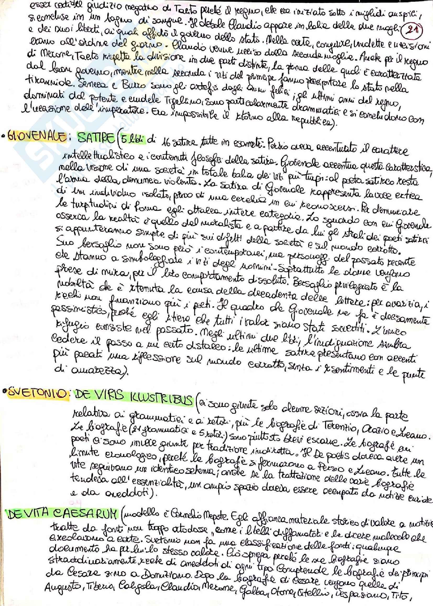 Riassunto esame Lingua e letteratura latina I, prof. Berno, libro consigliato Storia letteraria di Roma, P. Fedeli Pag. 21