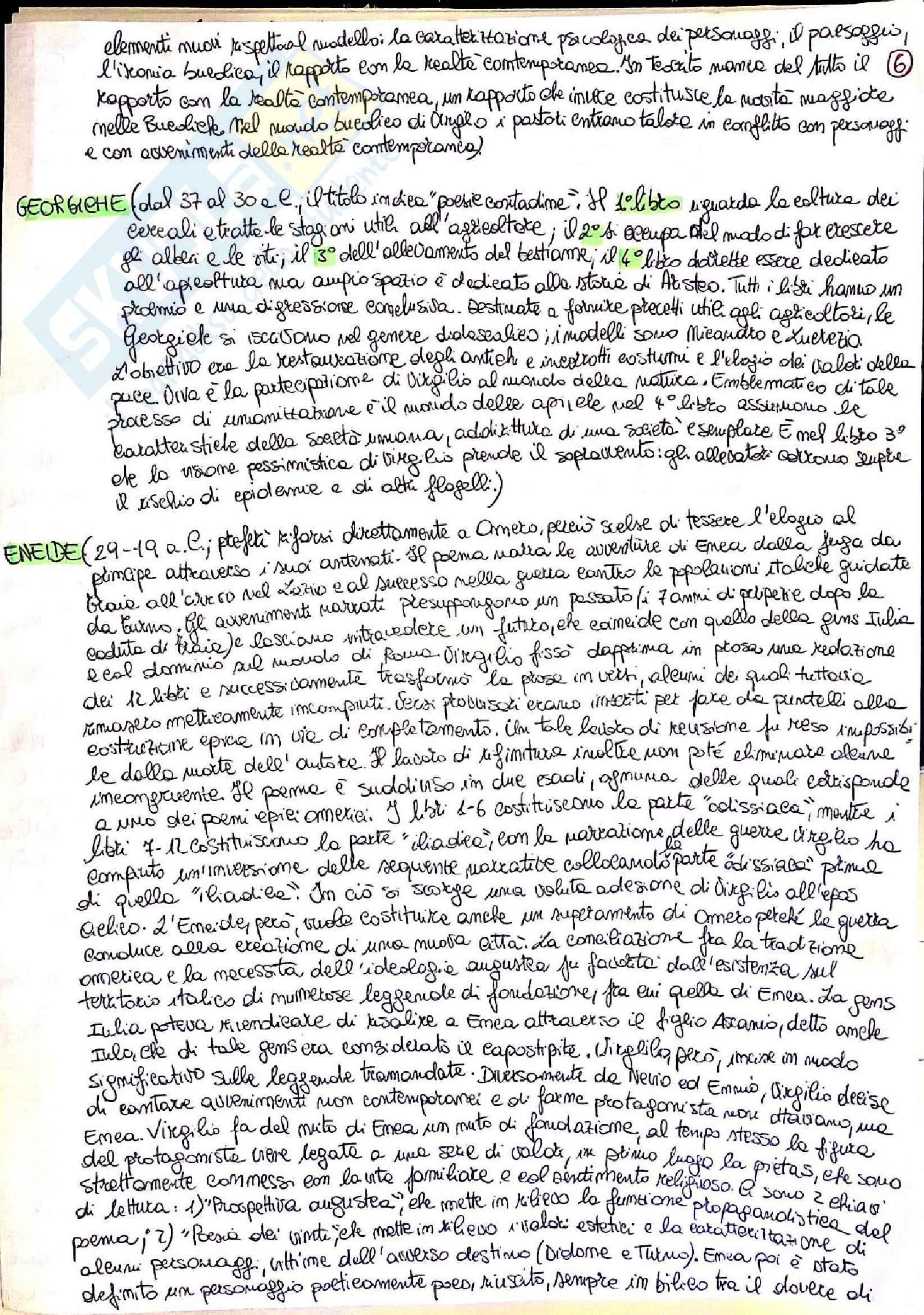Riassunto esame Lingua e letteratura latina I, prof. Berno, libro consigliato Storia letteraria di Roma, P. Fedeli Pag. 6