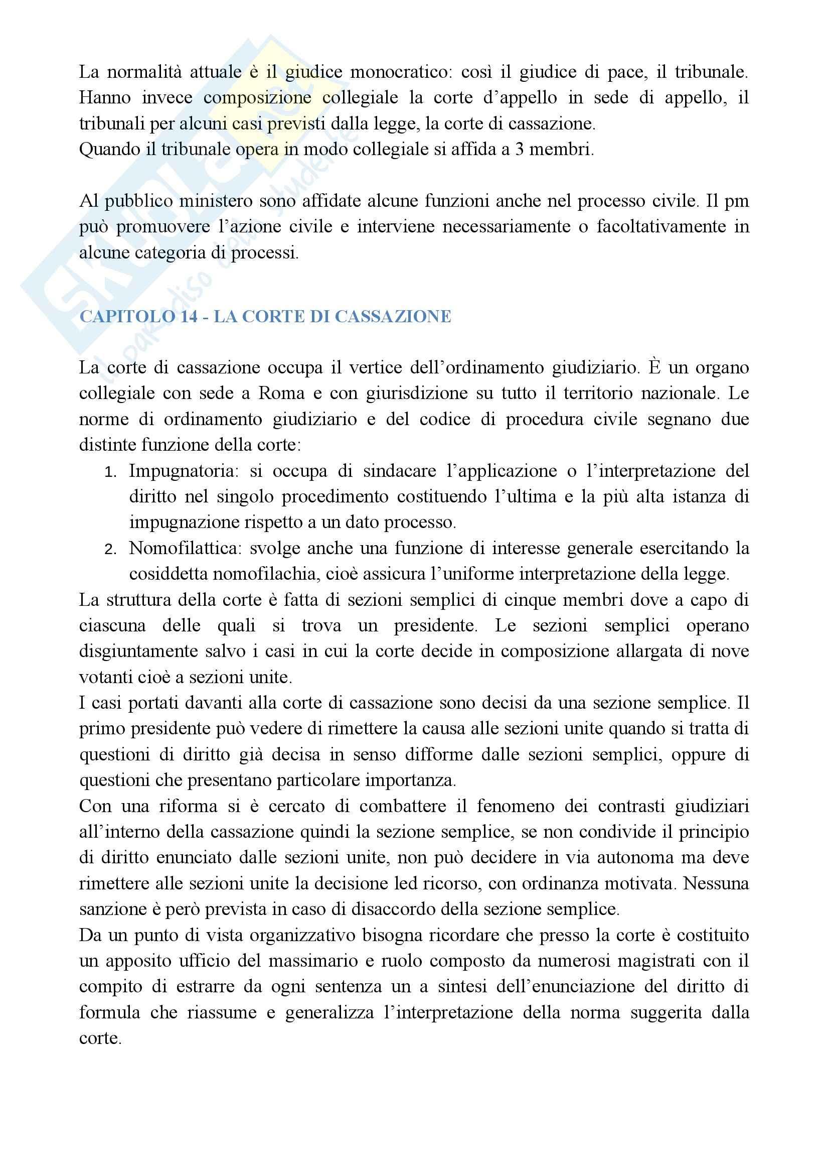Riassunto esame Diritto Processuale Generale, prof. Querzola, libro consigliato La Giustizia Civile e Penale in Italia Pag. 11