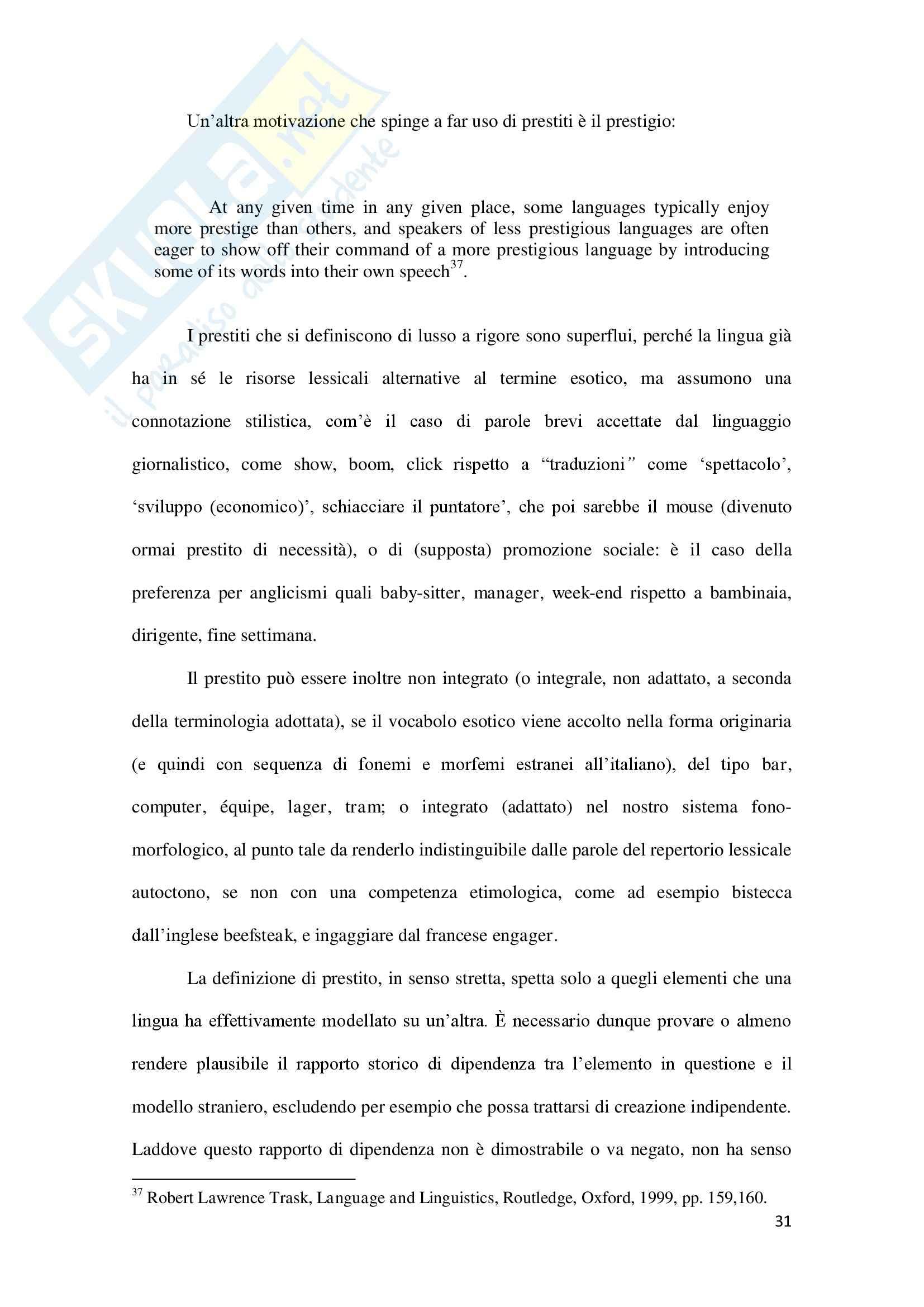 Linguaggio di Internet, Lingua inglese Pag. 31
