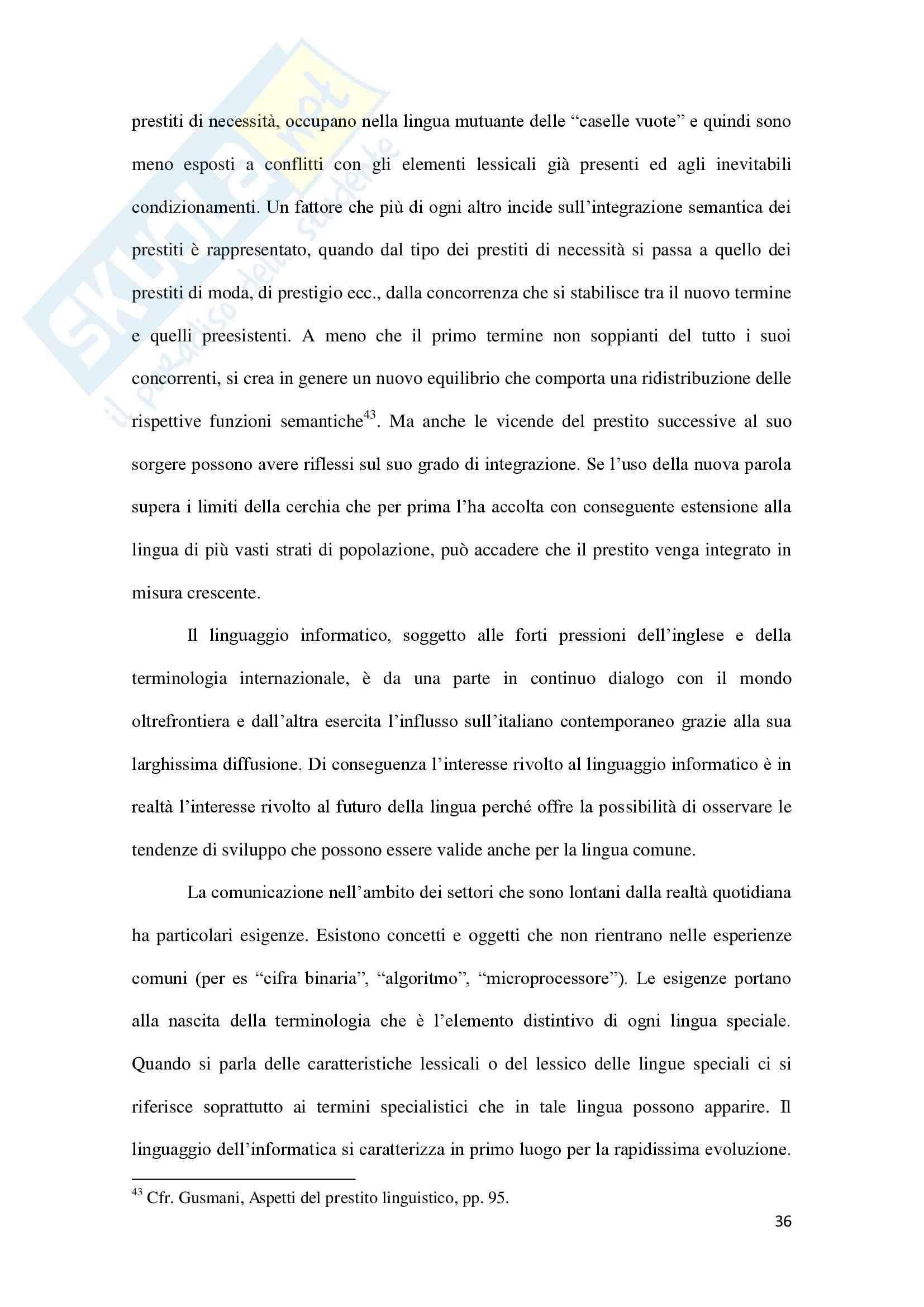 Linguaggio di Internet, Lingua inglese Pag. 36