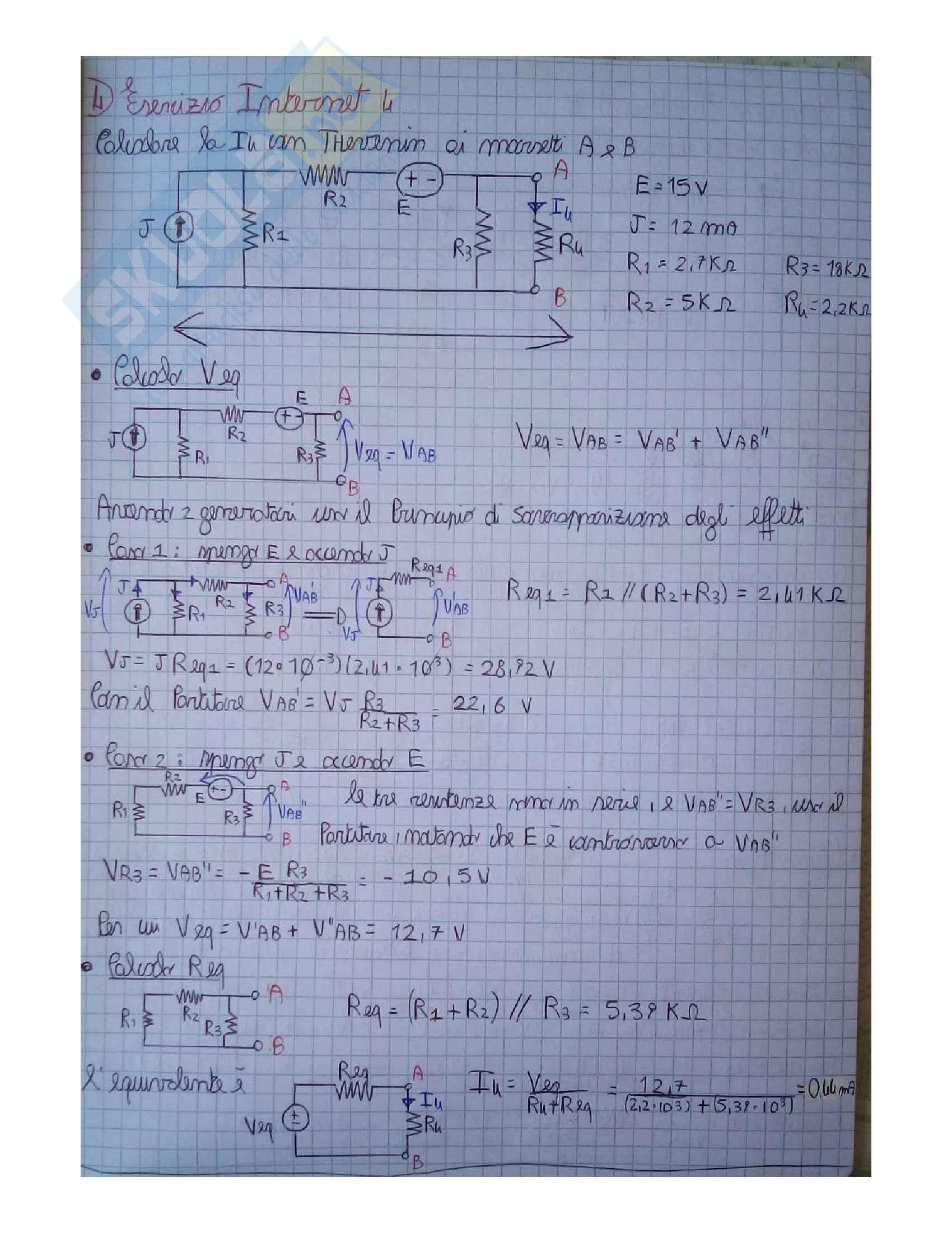 Elettrotecnica - Esercizi Pag. 16
