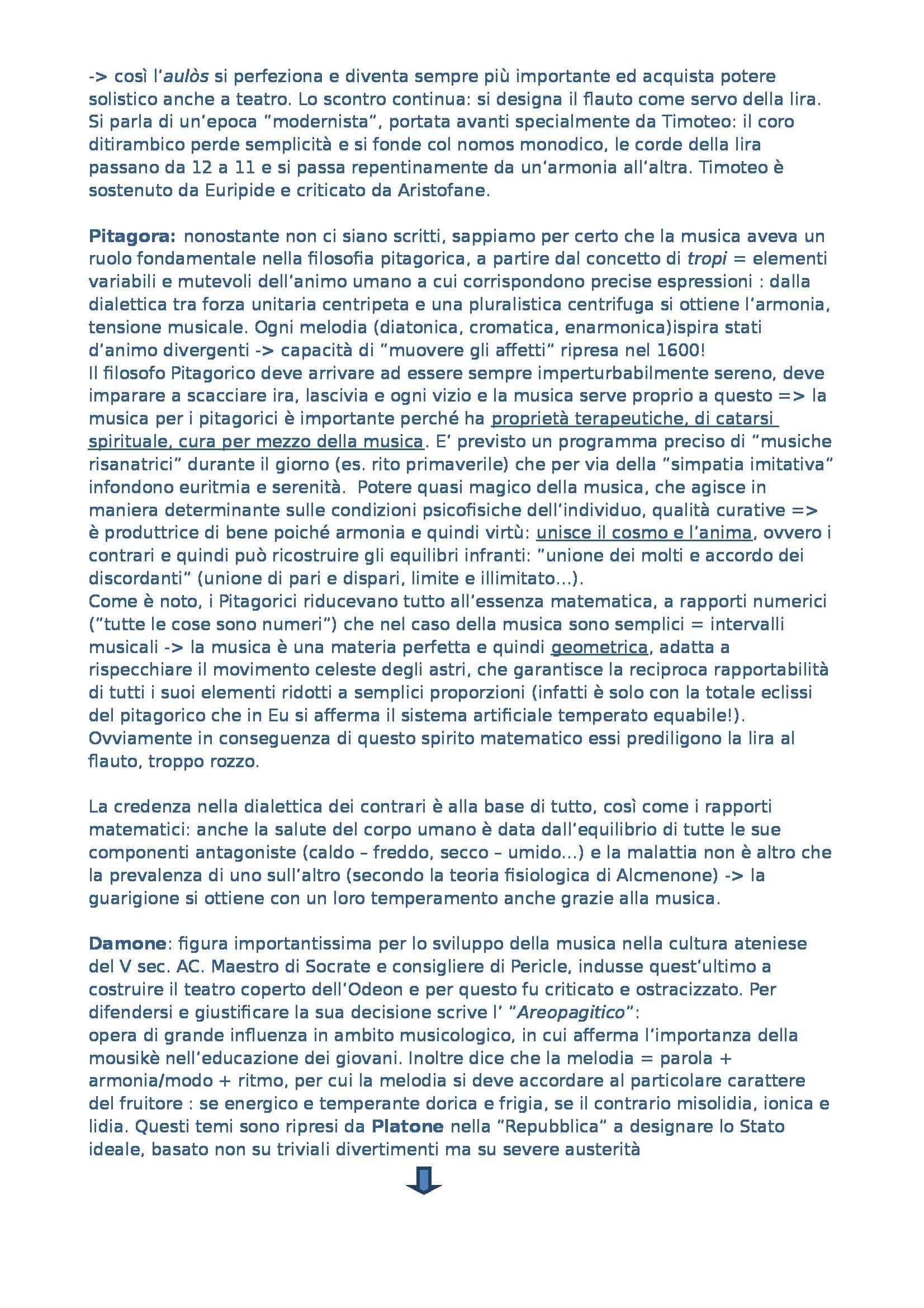Riassunto esame Estetica Musicale, prof. Givone, libro consigliato Estetica Musicale di Guanti Pag. 2