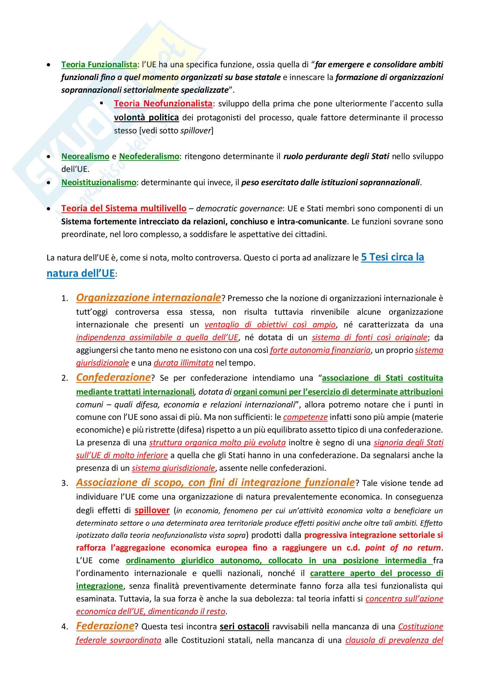 Riassunto esame di Diritto costituzionale 2 II, prof. P. Costanzo e L. Trucco, libro consigliato Lineamenti di diritto costituzionale dell'Unione Europea, P. Costanzo Pag. 16