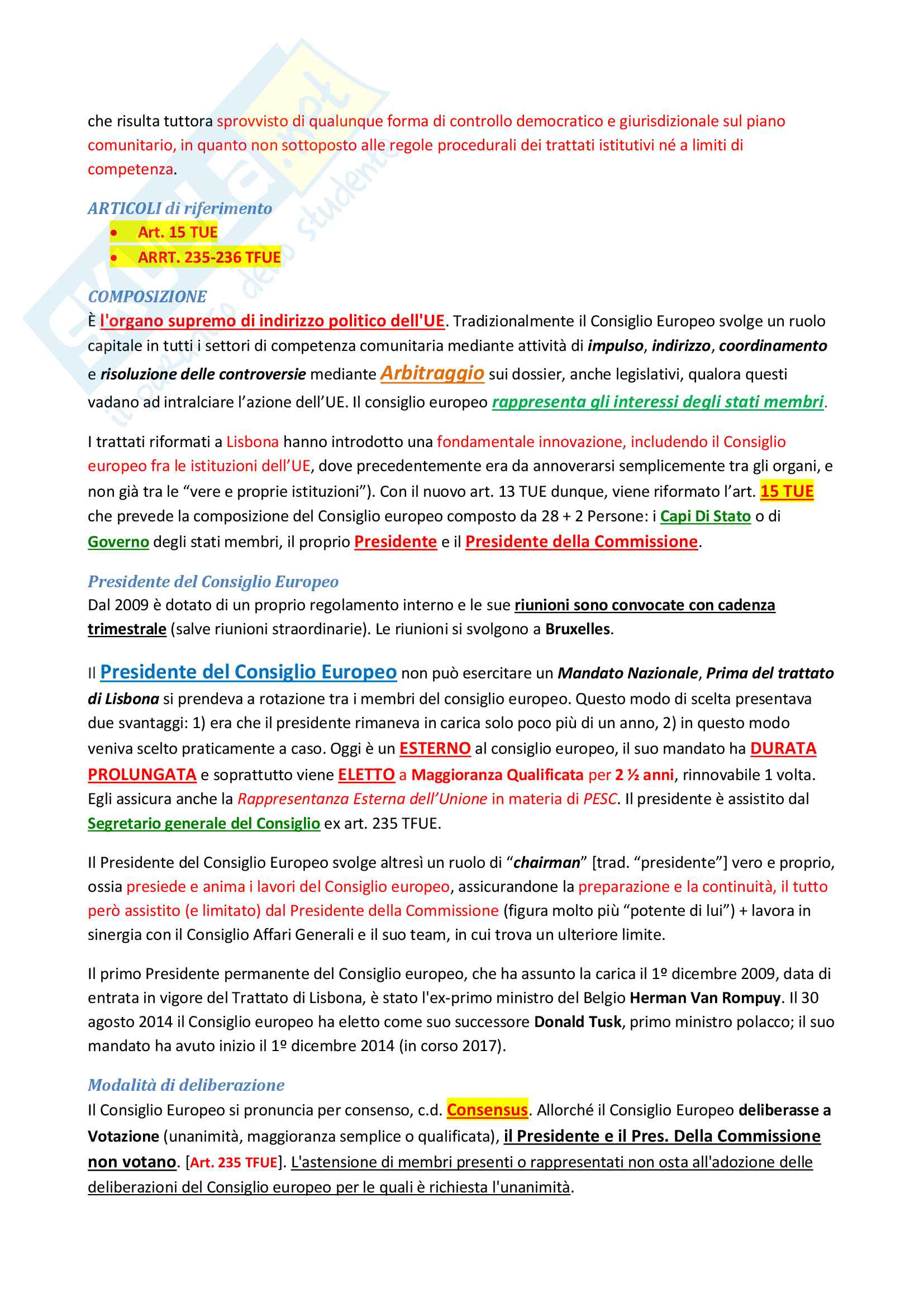 Riassunto esame di Diritto costituzionale 2 II, prof. P. Costanzo e L. Trucco, libro consigliato Lineamenti di diritto costituzionale dell'Unione Europea, P. Costanzo Pag. 26