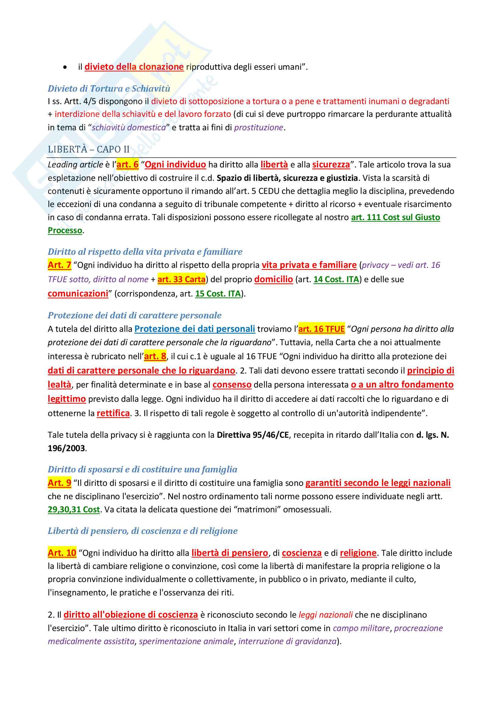 Riassunto esame di Diritto costituzionale 2 II, prof. P. Costanzo e L. Trucco, libro consigliato Lineamenti di diritto costituzionale dell'Unione Europea, P. Costanzo Pag. 66