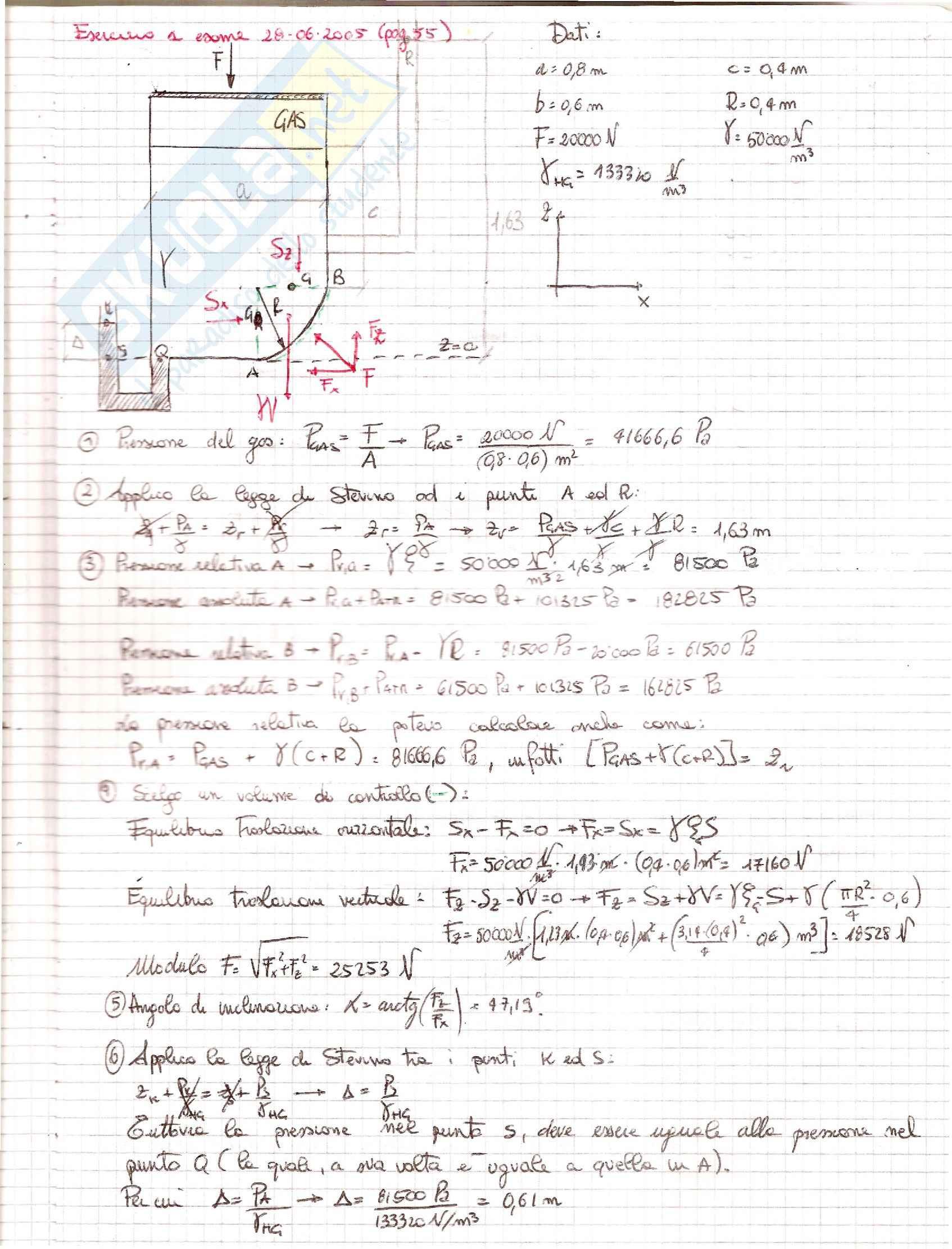Esercizi Meccanica dei Fluidi/Idraulica Pag. 11