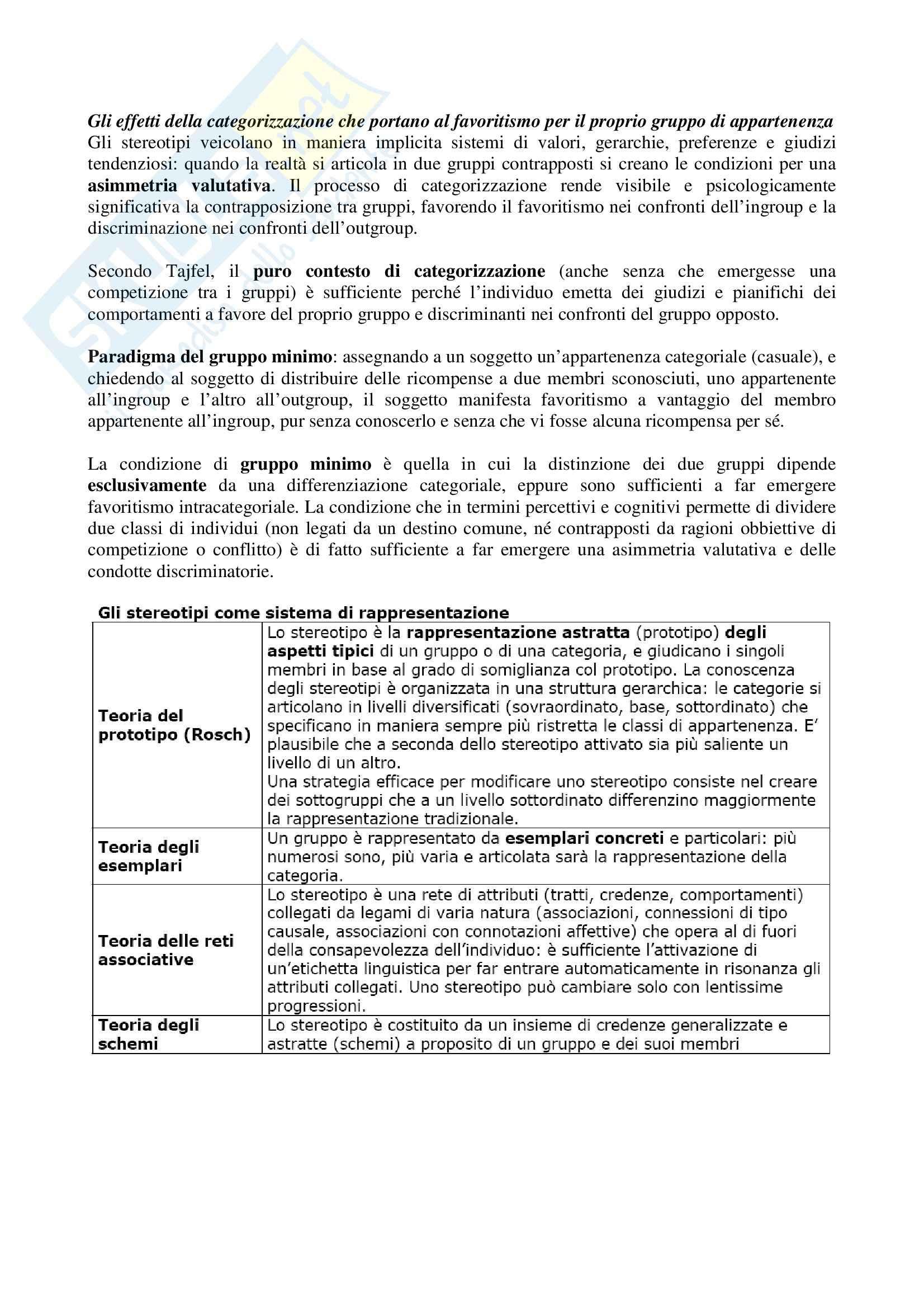 Riassunto esame Psicologia, testo consigliato Gli stereotipi, Arcuri, Cadinu Pag. 11