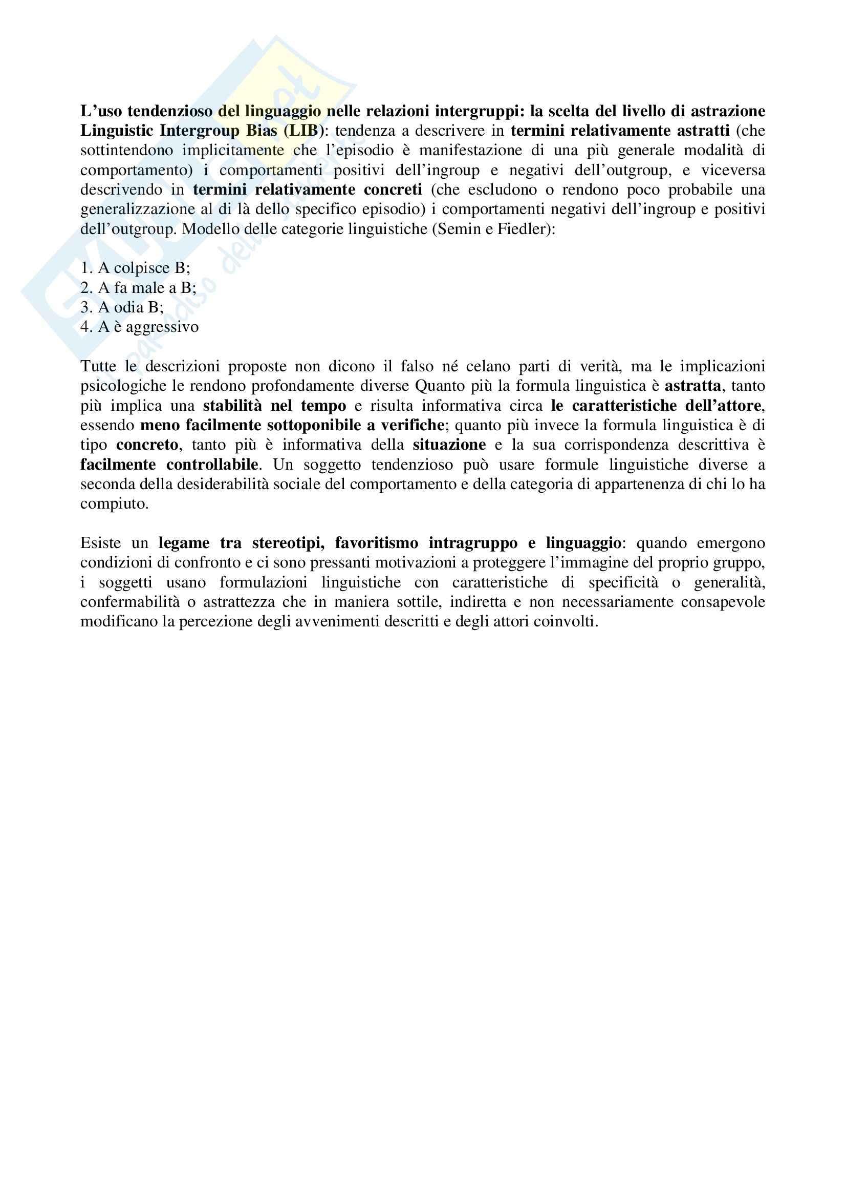 Riassunto esame Psicologia, testo consigliato Gli stereotipi, Arcuri, Cadinu Pag. 26