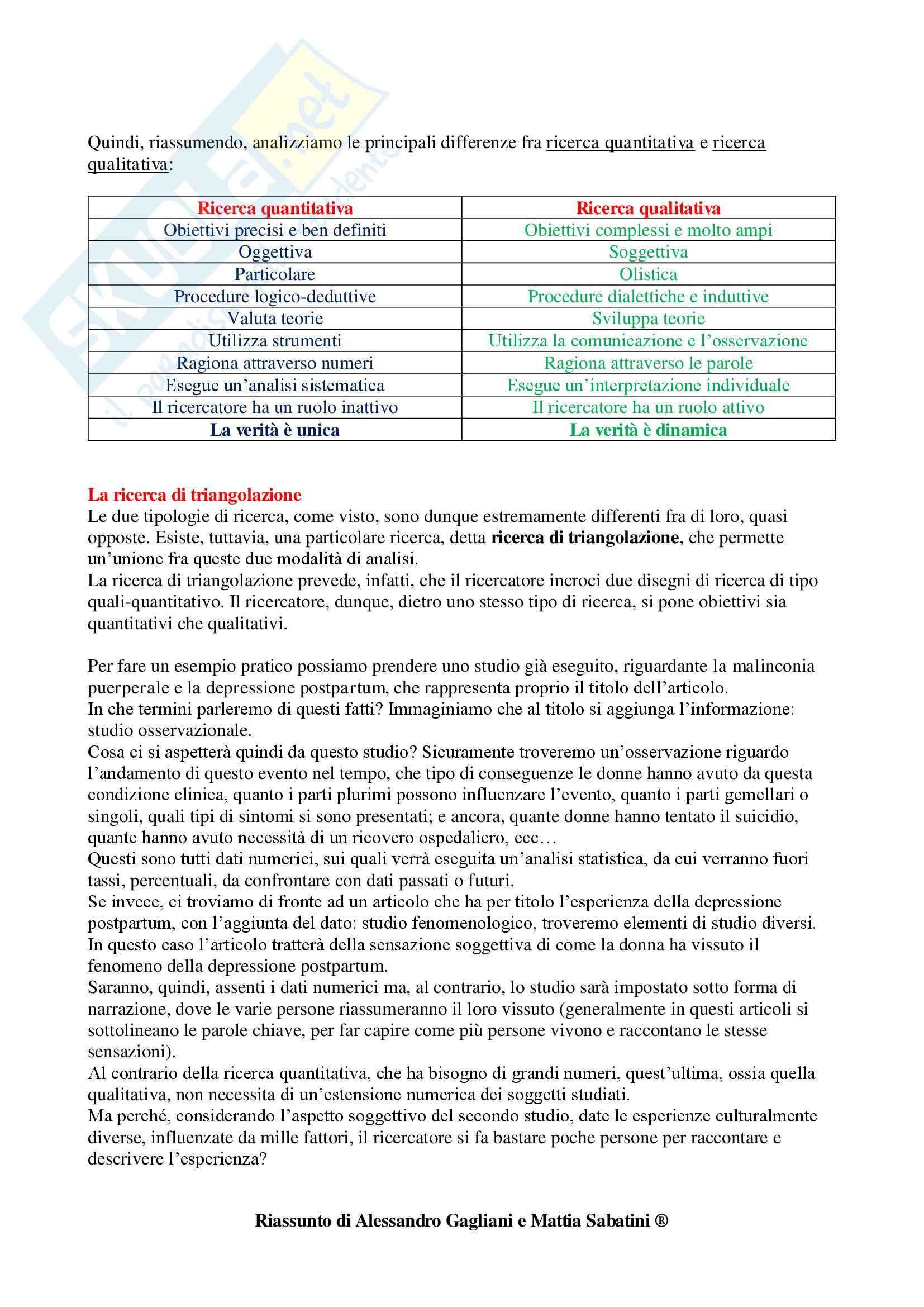 Metodologia della Ricerca Infermieristica - Appunti Completi Pag. 6
