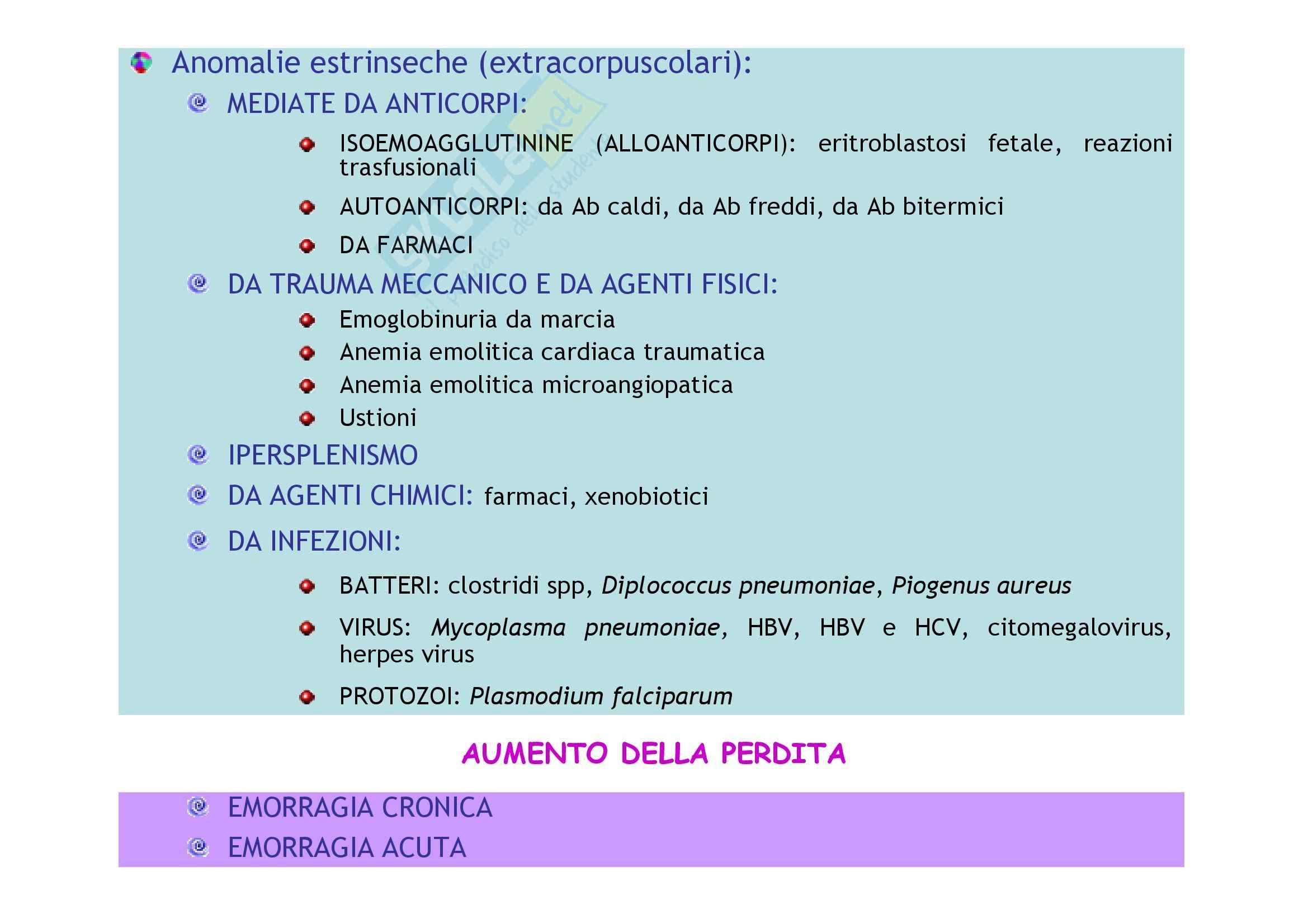 Patologia e fisiopatologia generale – Anemie Pag. 2