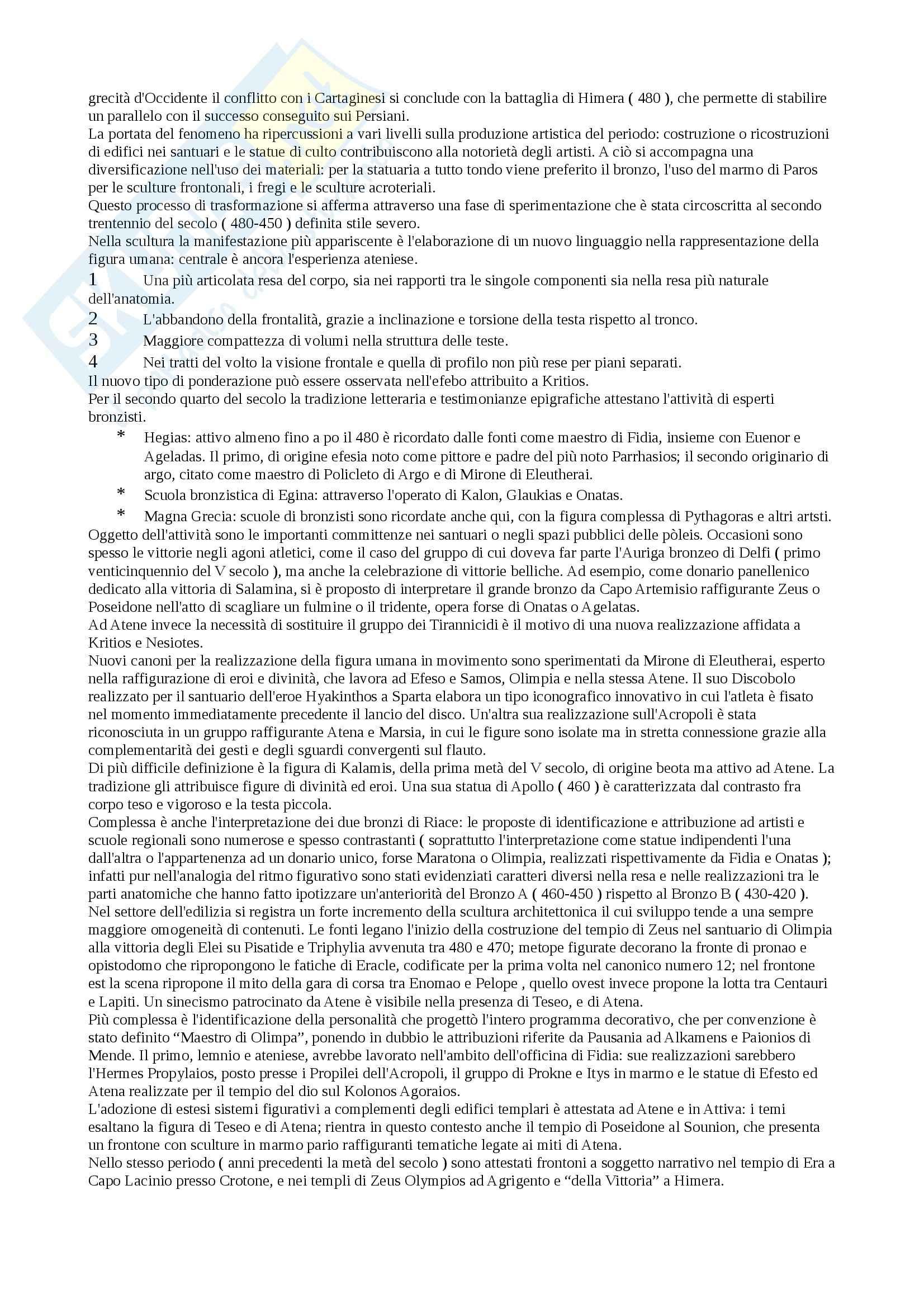 Riassunto esame Archeologia greca, prof. Lippolis, libro consigliato Archeologia greca Pag. 21