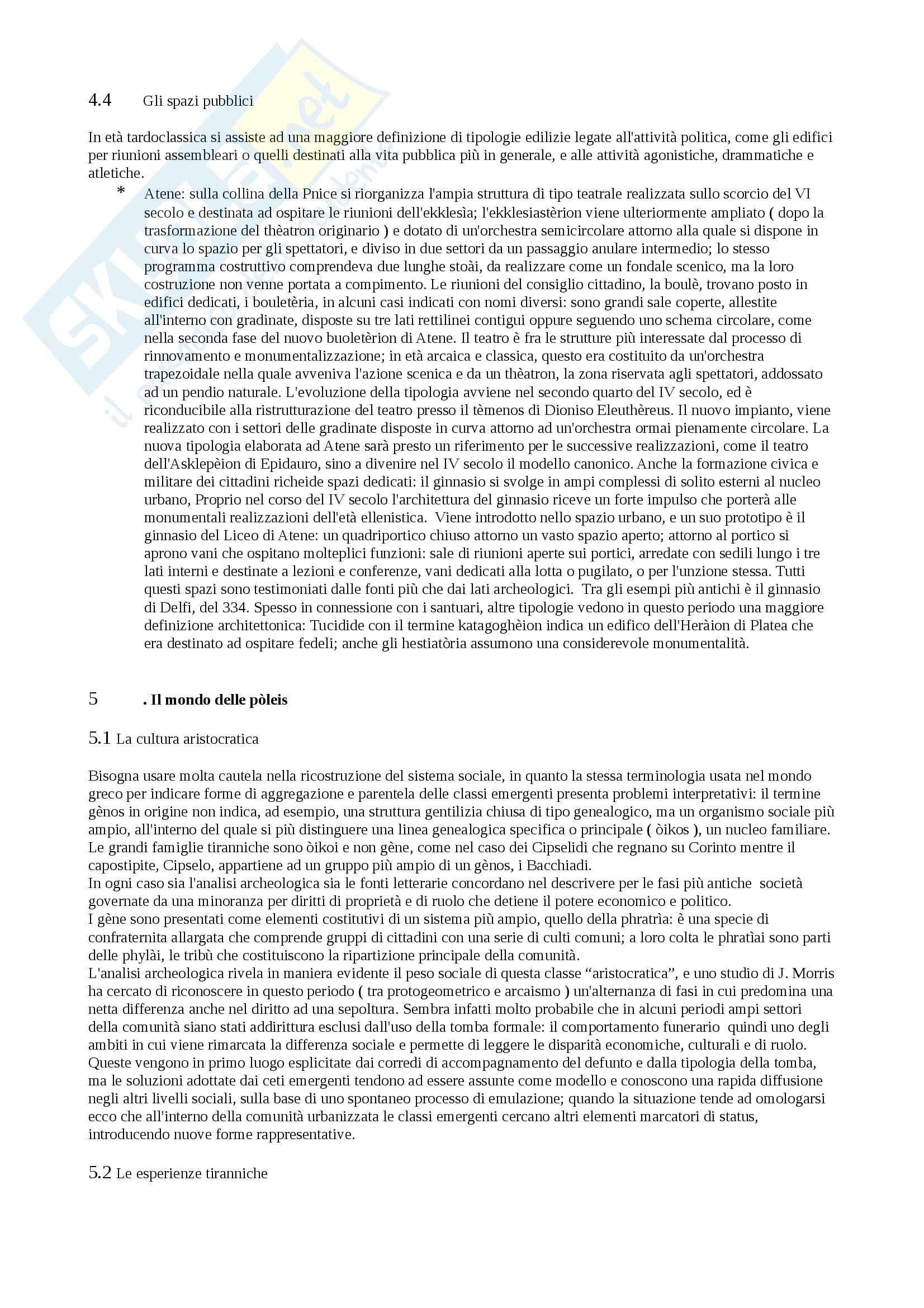 Riassunto esame Archeologia greca, prof. Lippolis, libro consigliato Archeologia greca Pag. 26