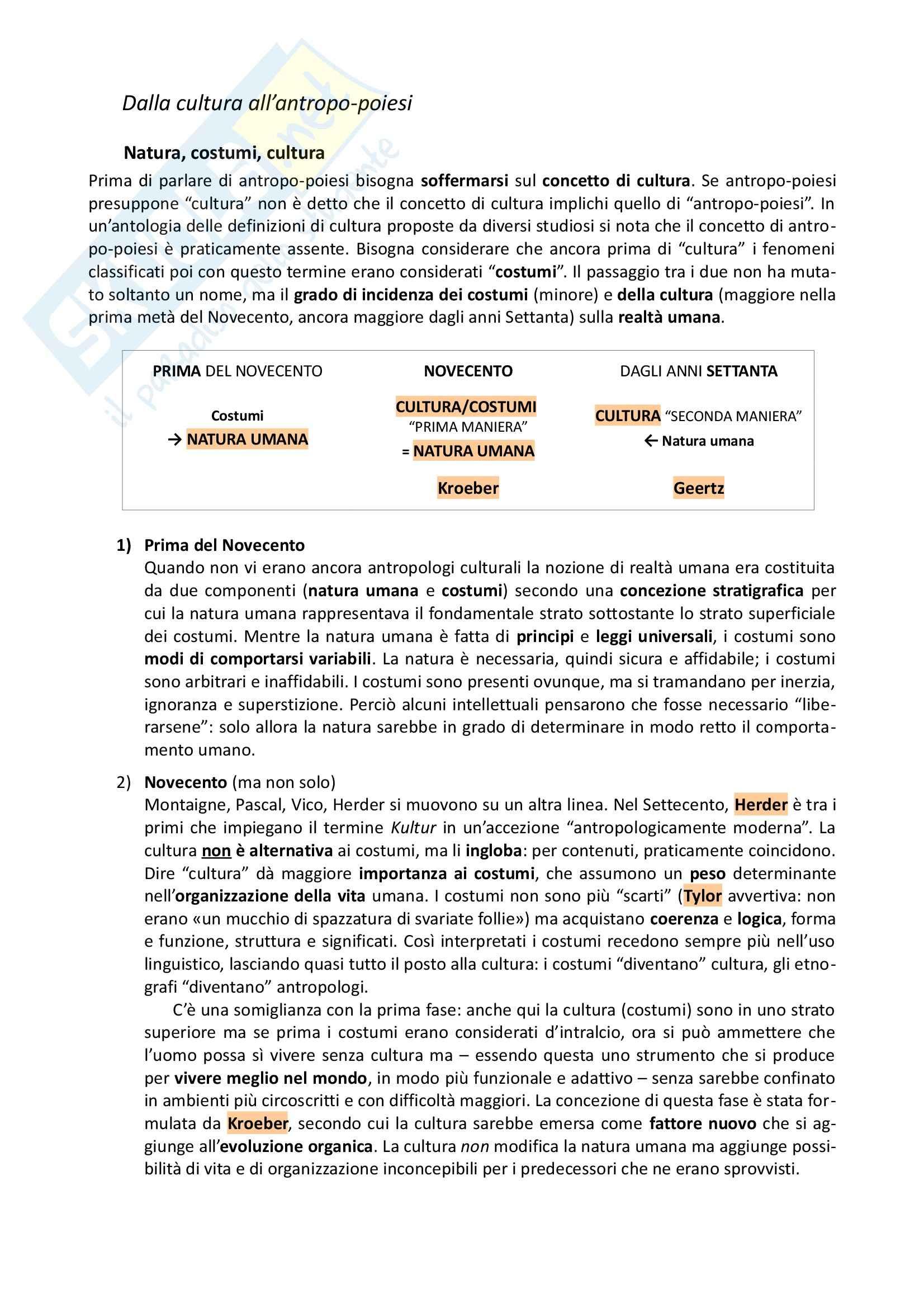 Riassunto esame Antropologia, prof. Allovio, libro consigliato Fare umanità, Remotti