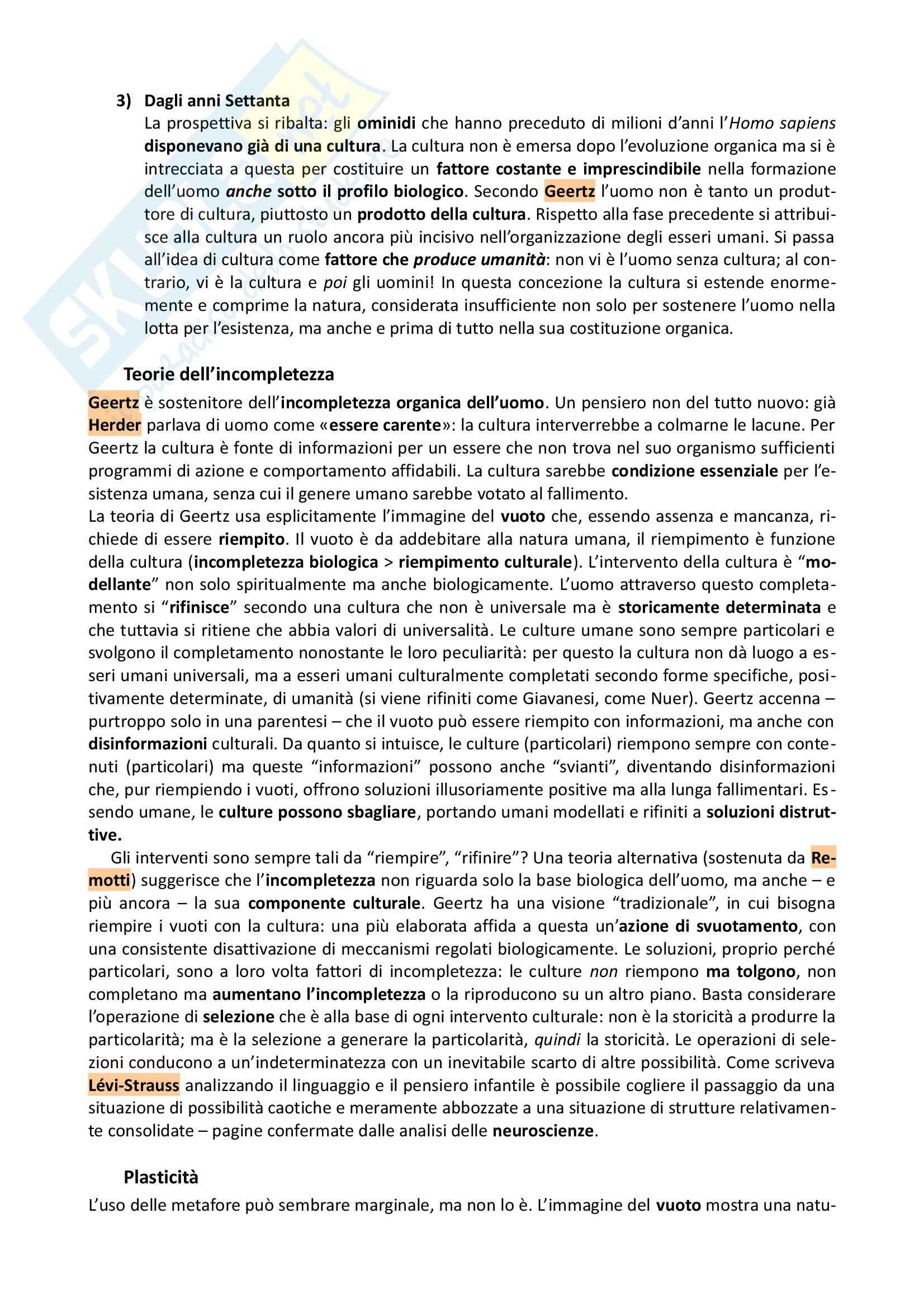 Riassunto esame Antropologia, prof. Allovio, libro consigliato Fare umanità, Remotti Pag. 2