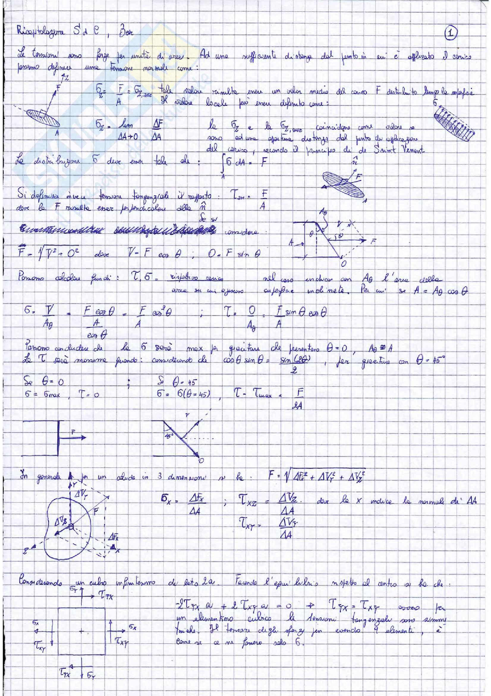 Riassunto esame parte 1 costruzioni di macchine, prof. Citarella, libro consigliato Meccanica dei solidi, Beer