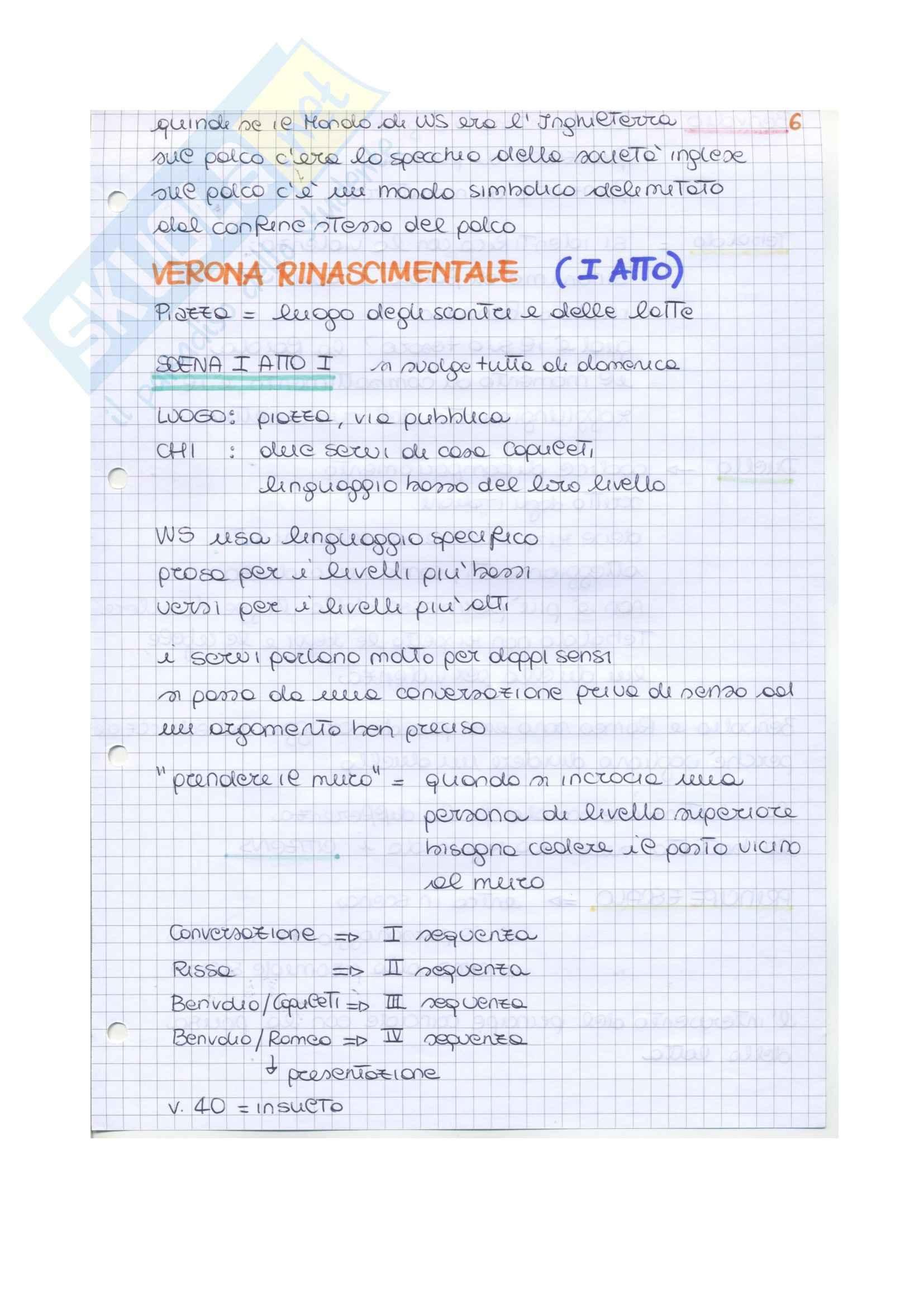Riassunto esame Letteratura inglese II, prof. Vallaro, libro consigliato Romeo and Juliet, Shakespeare Pag. 11
