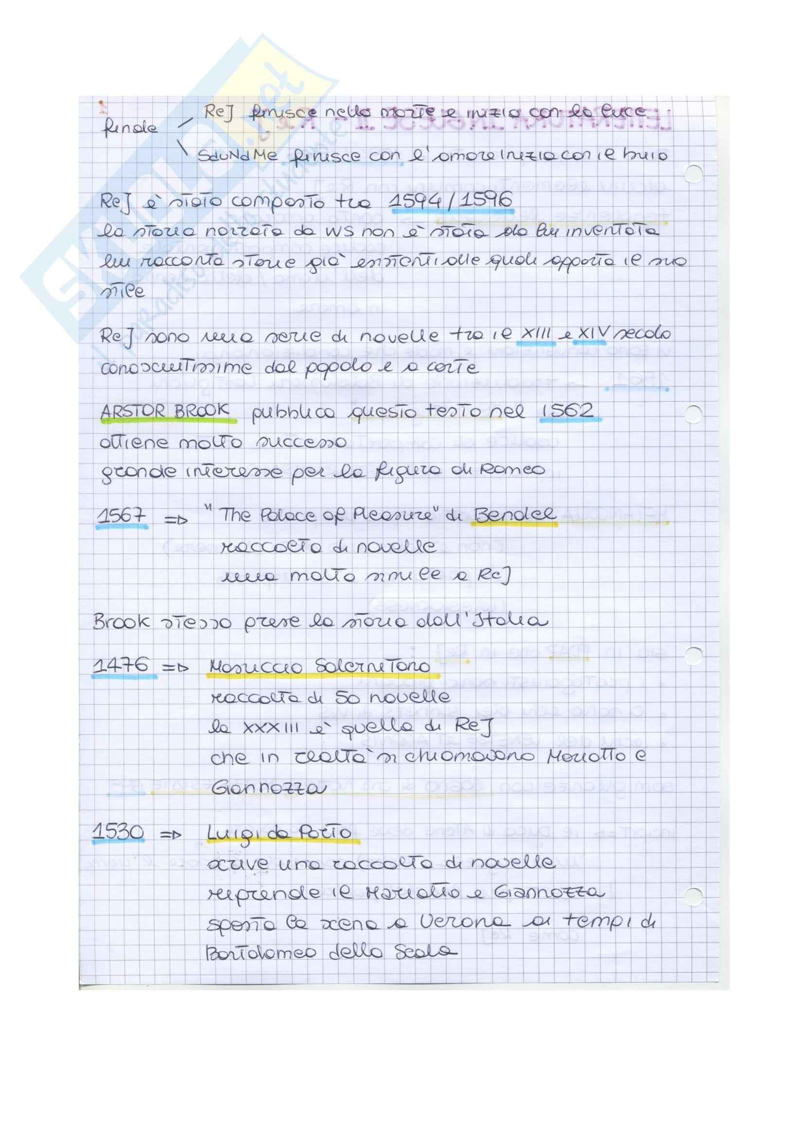 Riassunto esame Letteratura inglese II, prof. Vallaro, libro consigliato Romeo and Juliet, Shakespeare Pag. 2