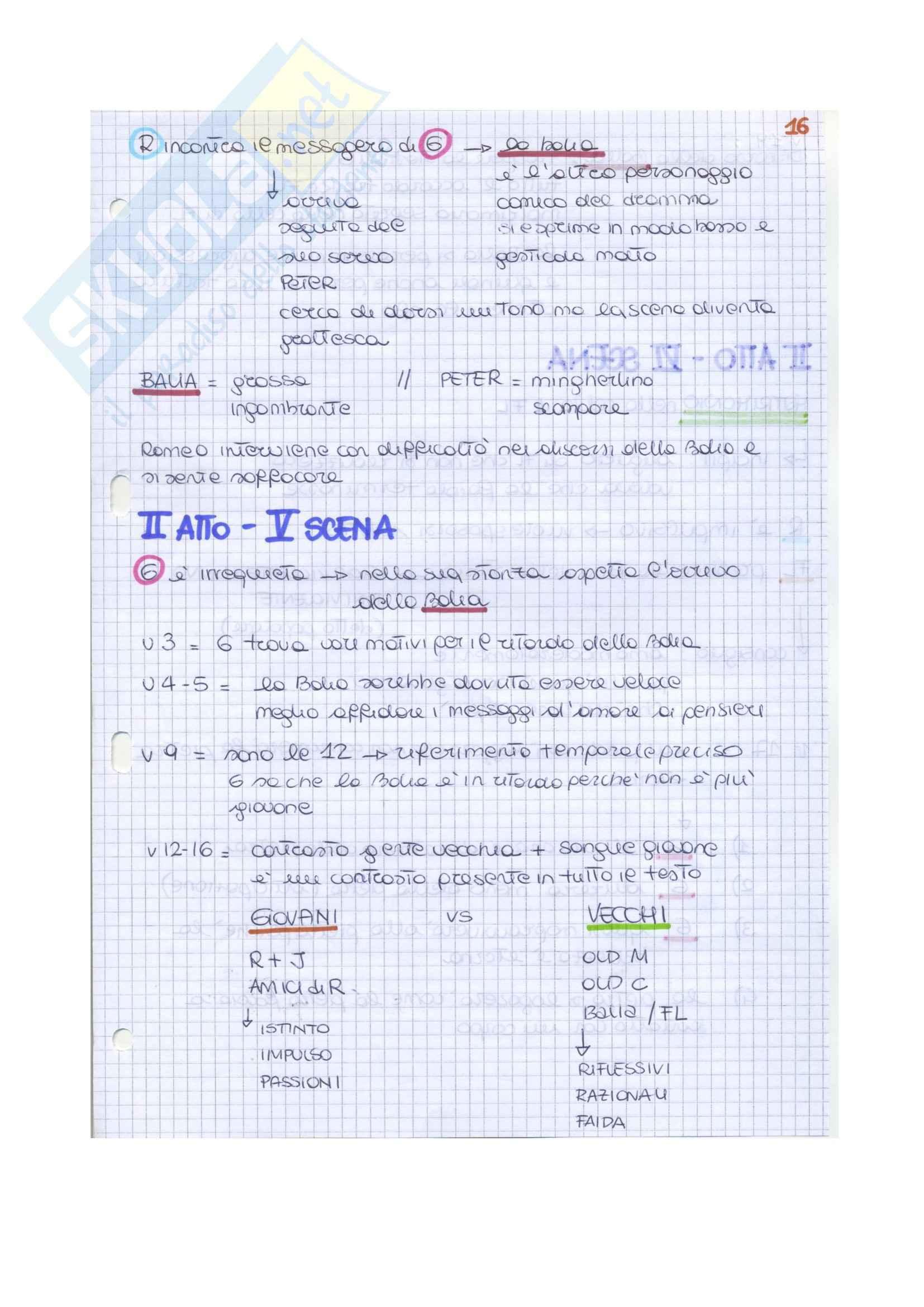 Riassunto esame Letteratura inglese II, prof. Vallaro, libro consigliato Romeo and Juliet, Shakespeare Pag. 31