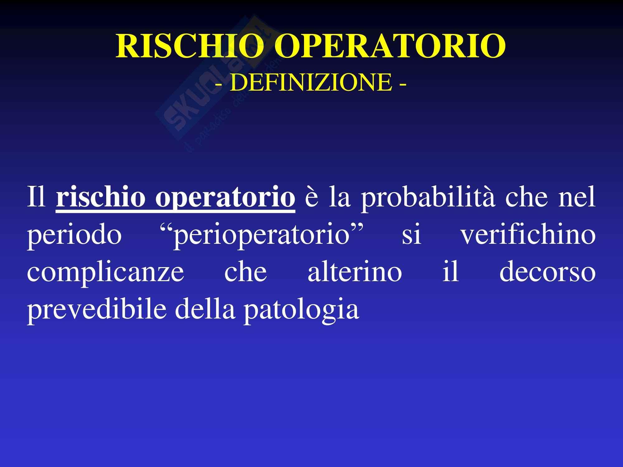 Rischio Operatorio