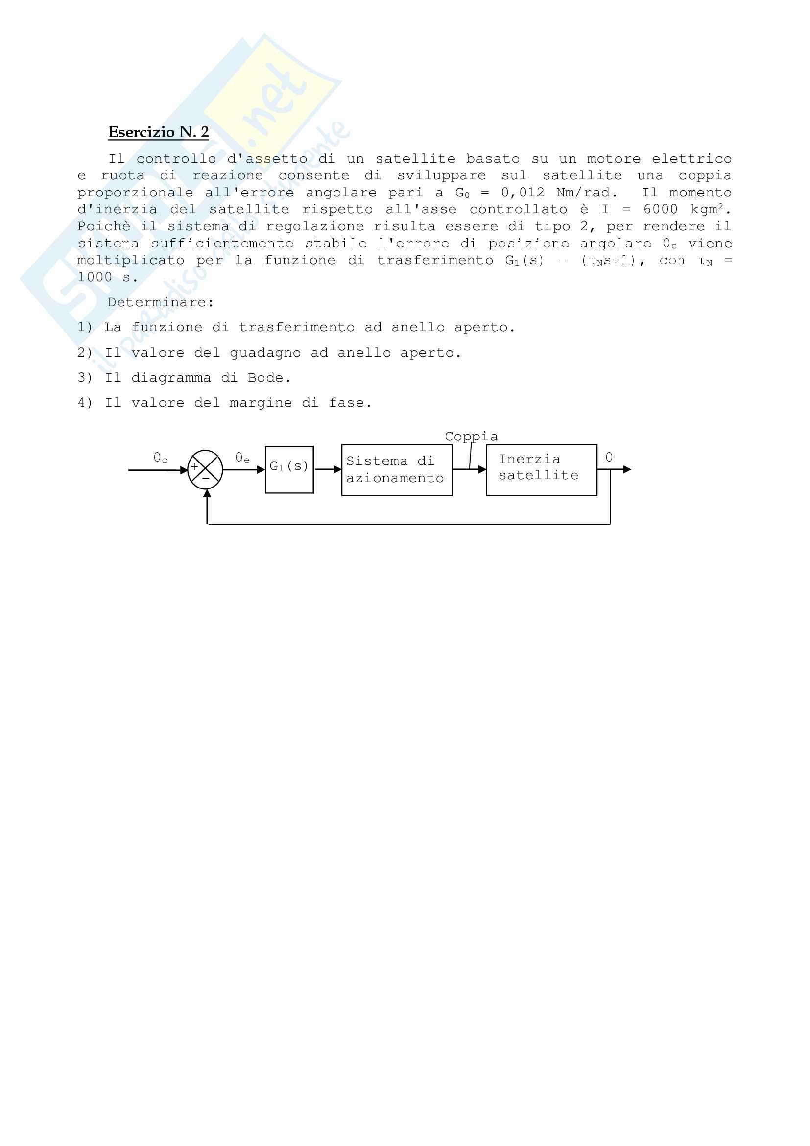 21 Temi D'Esame dal 2008 al  2016, Controllo dei sistemi meccanici Pag. 21