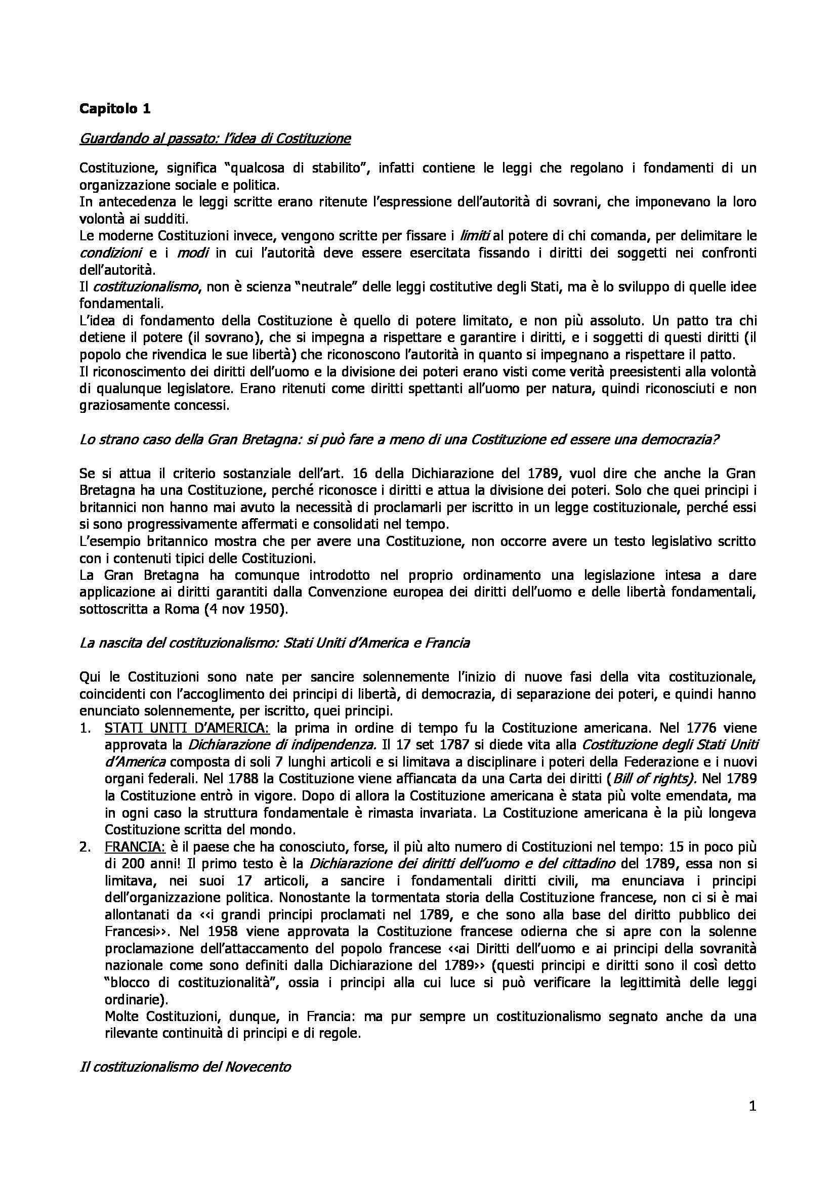 Riassunto esame Istituzioni di diritto pubblico, prof. Buzzacchi, libro consigliato La Costituzione, Onida