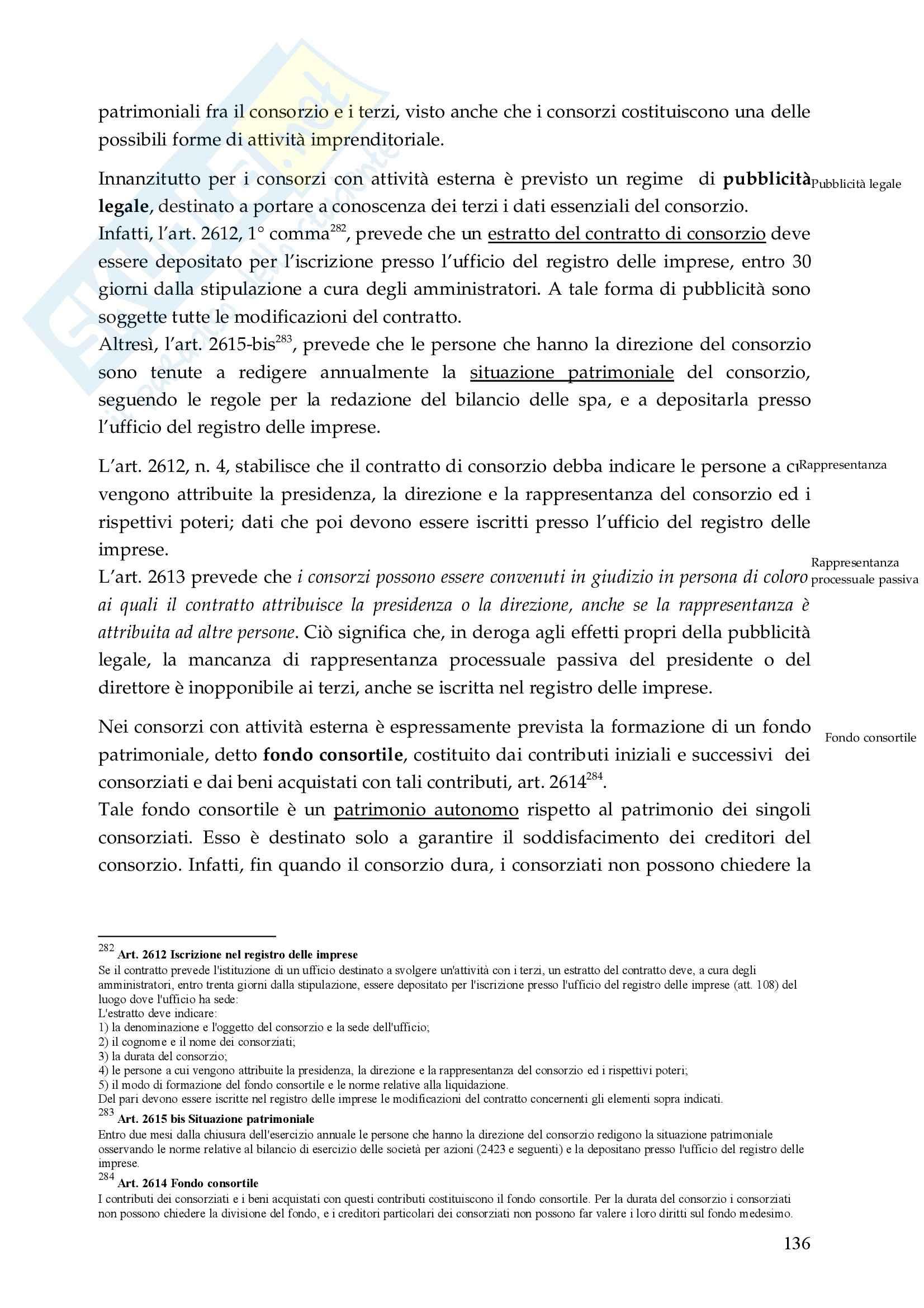 Riassunto esame Diritto Commerciale, prof. De Mari, libro consigliato Diritto Commerciale, Campobasso Pag. 136
