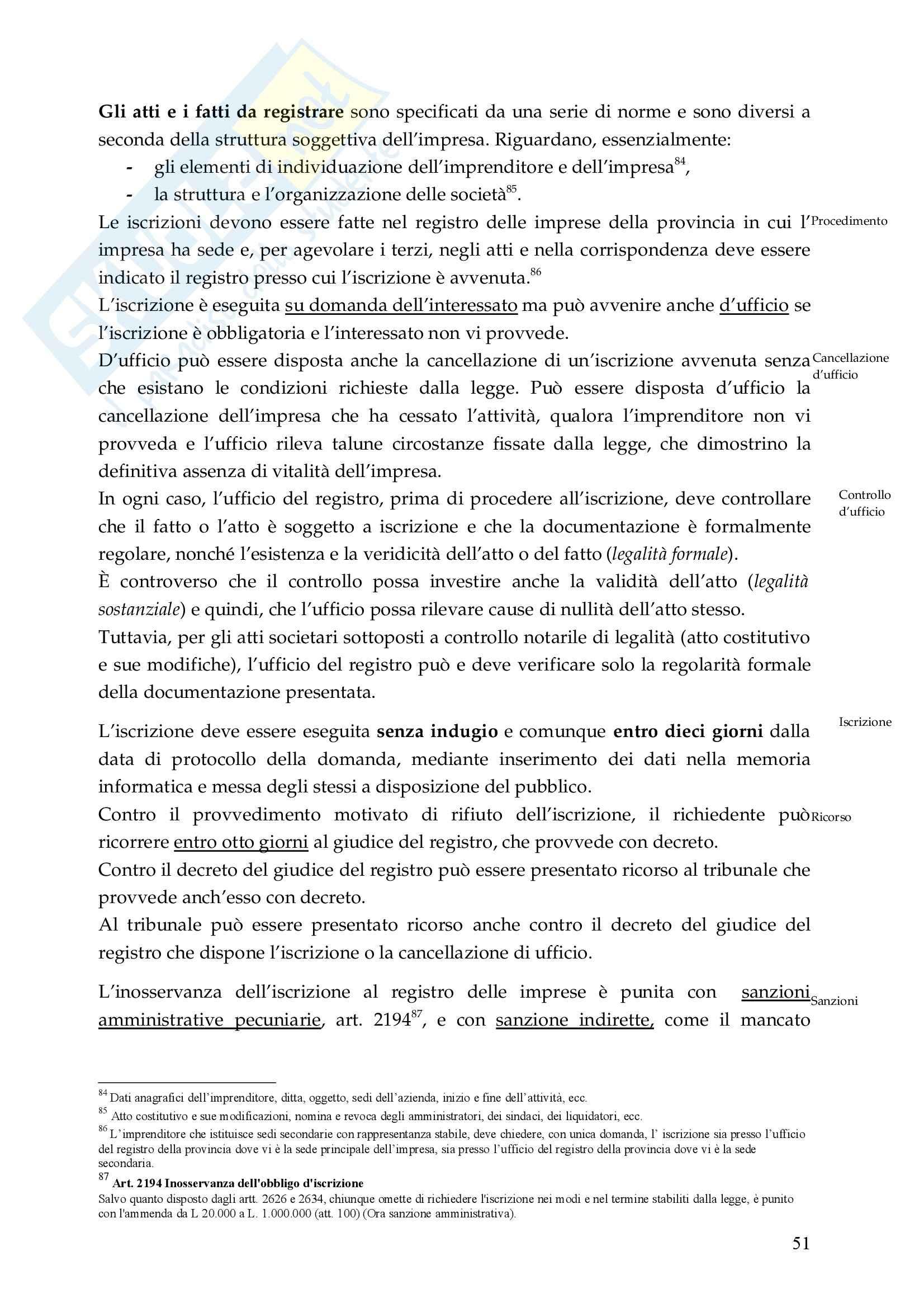 Riassunto esame Diritto Commerciale, prof. De Mari, libro consigliato Diritto Commerciale, Campobasso Pag. 51