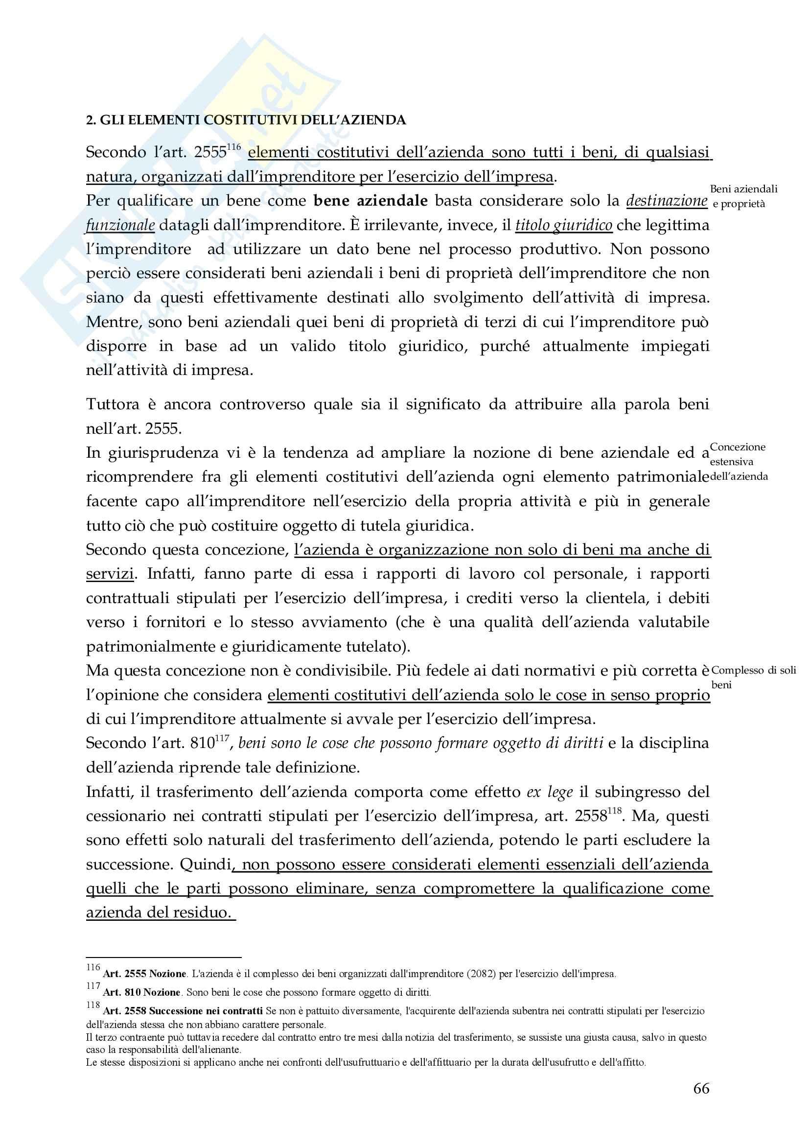 Riassunto esame Diritto Commerciale, prof. De Mari, libro consigliato Diritto Commerciale, Campobasso Pag. 66