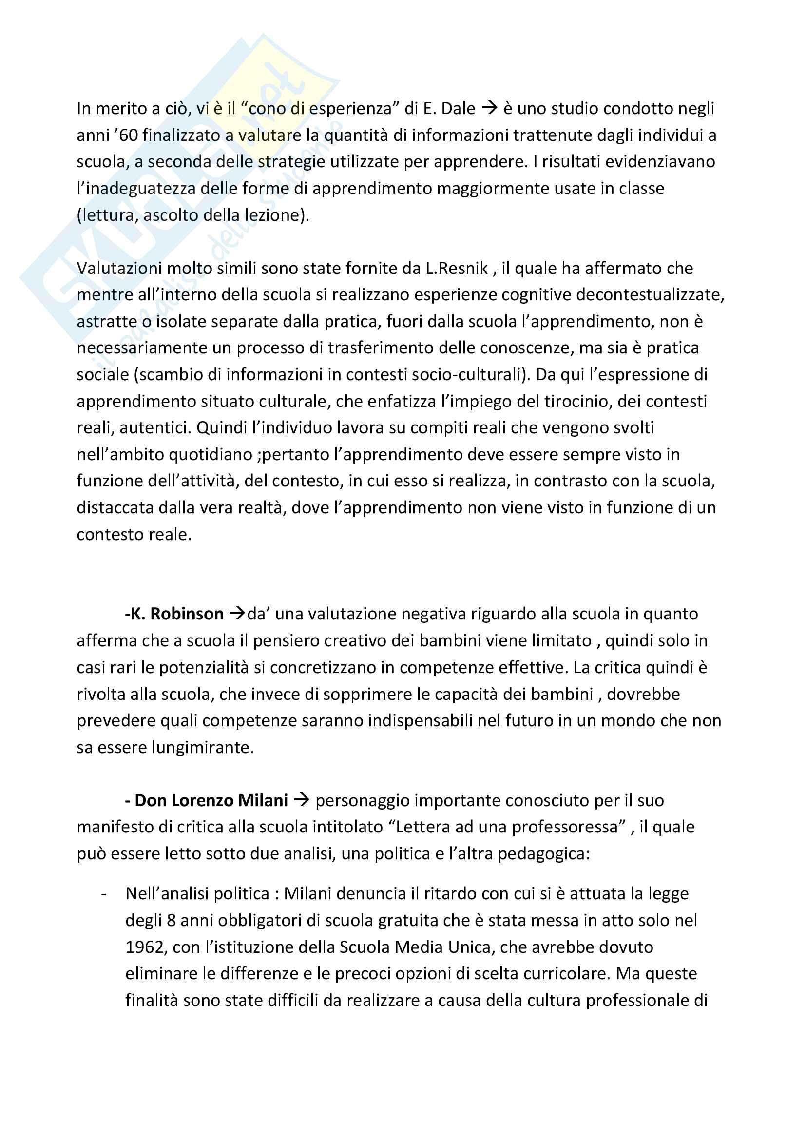 """Riassunto esame Pedagogia degli adulti, Prof. Cornacchia, Libro consigliato """"Le responsabilità smarrite"""", Cornacchia e Madriz Pag. 16"""