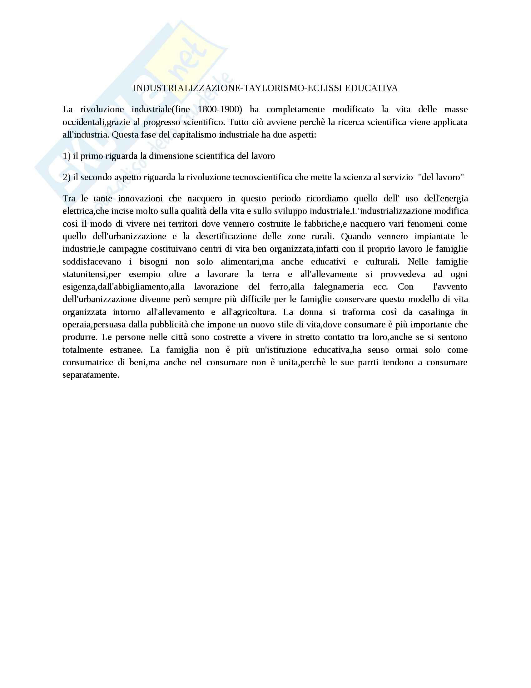 Riassunto esame Pedagogia sociale, prof. Sarracino, libro consigliato Pedagogia della decrescita: L'educazione sfida la globalizzazione, Sirignano