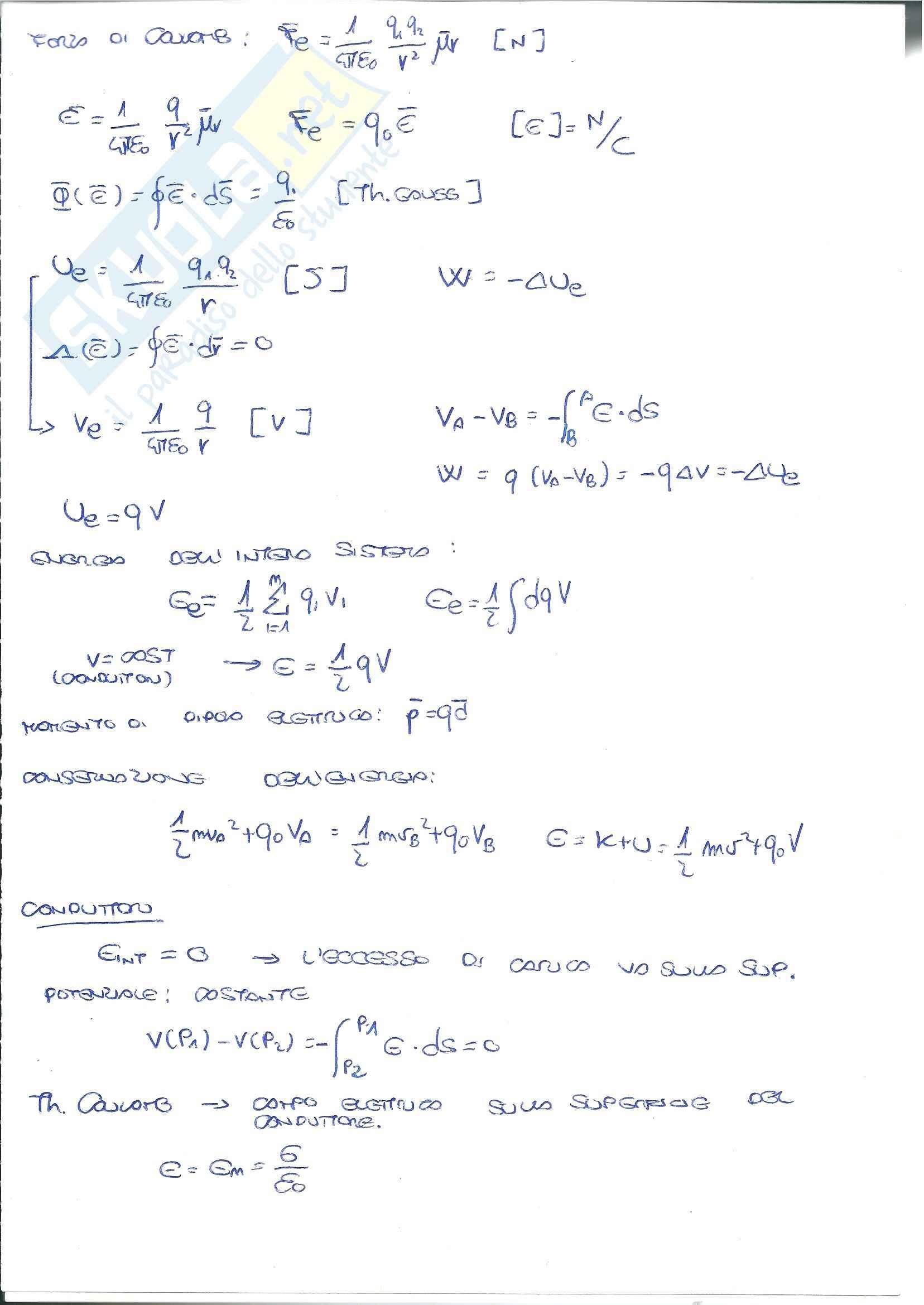Formulario elettrostatica