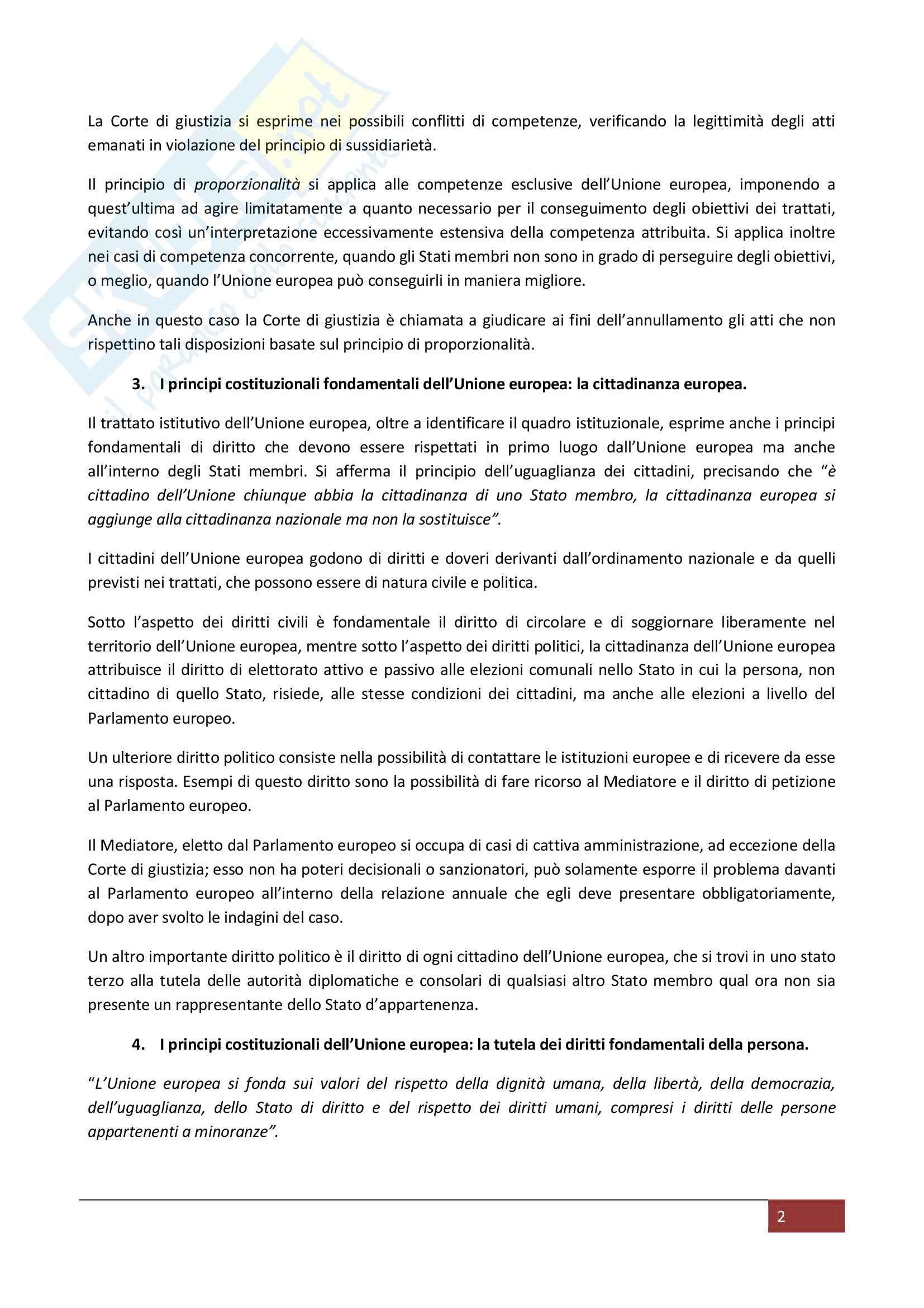 Riassunto esame Diritto dell'Unione Europea, prof. Piroddi, libro consigliato Diritto dell'Unione Europea, Pocar Pag. 2