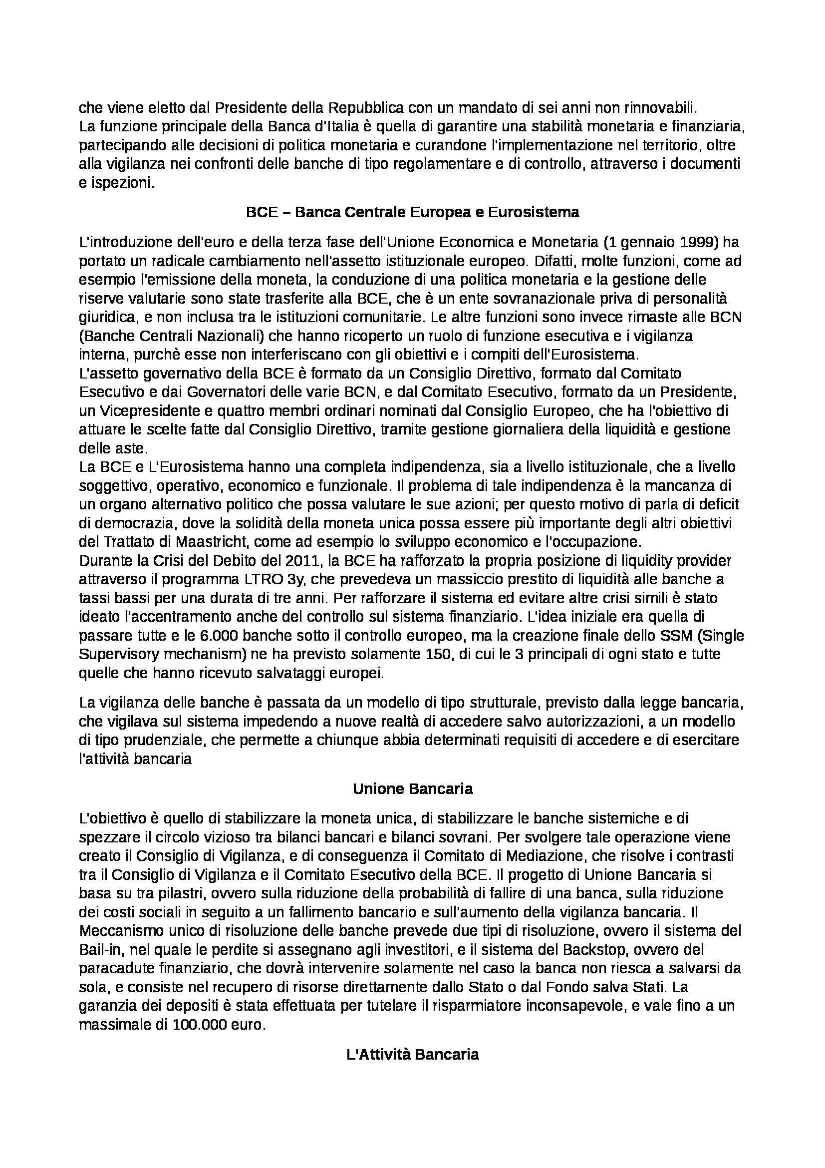 Economia degli intermediari finanziari - nozioni Pag. 2