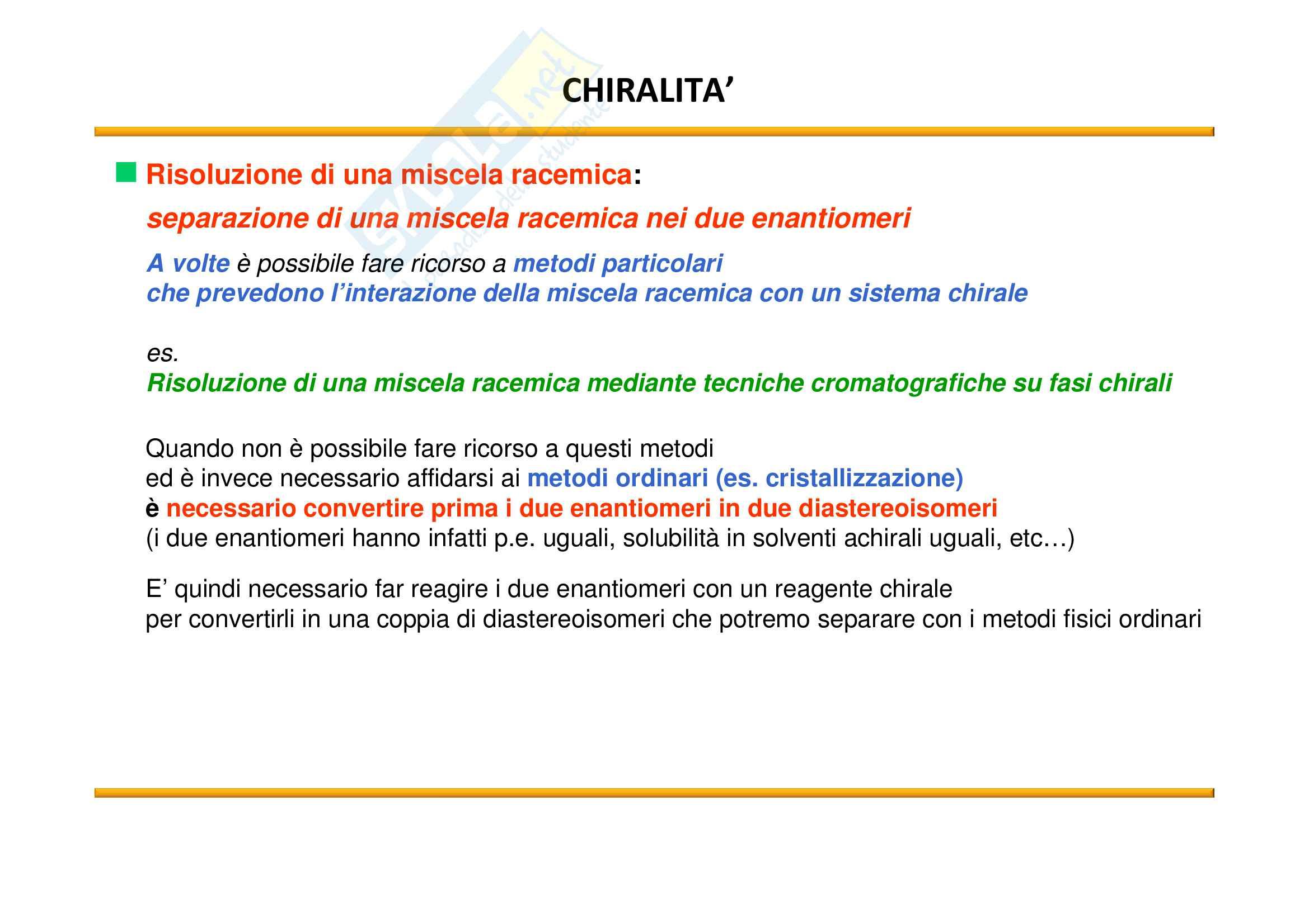 Chimica Organica: Chiralità Pag. 71