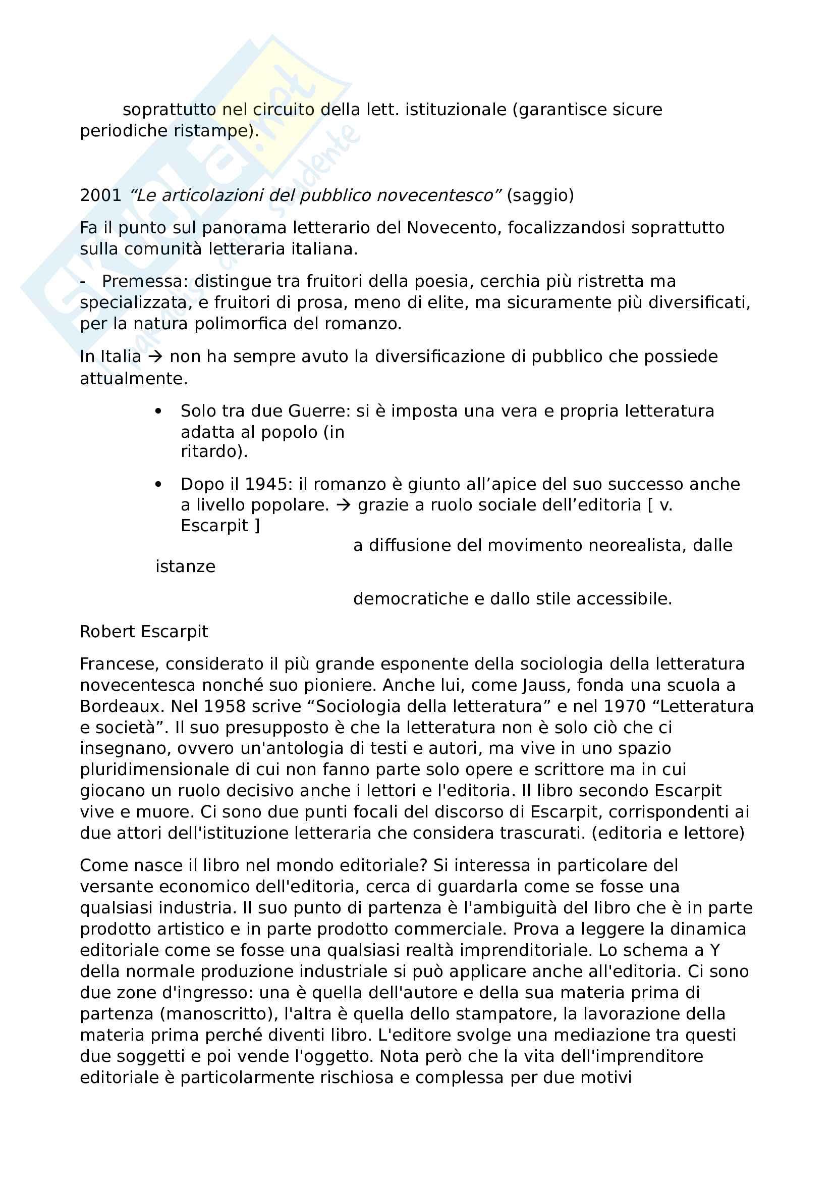 """Appunti 6 autori, libro consigliato """"Critica, letteratura e società"""", Luca Daino Pag. 6"""