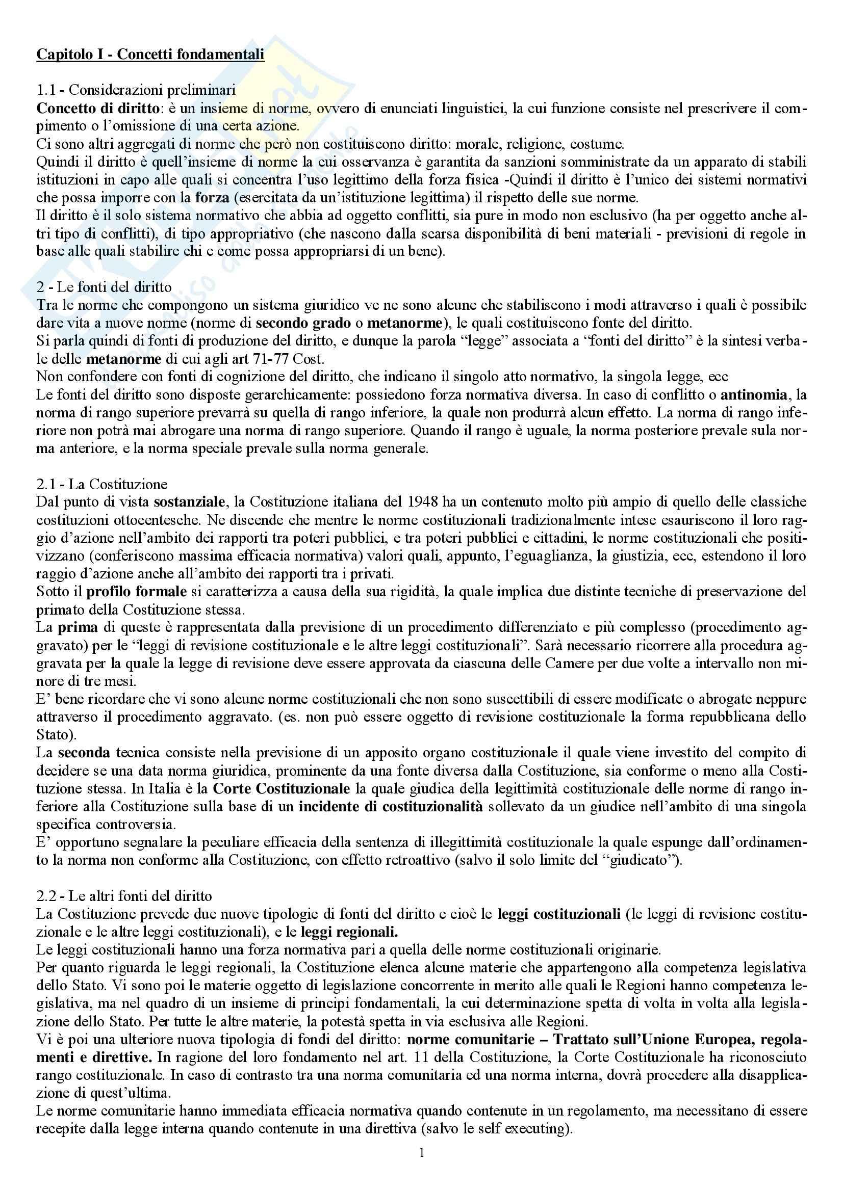 Riassunto esame Diritto Privato, prof. Marella, libro consigliato Manuale di diritto privato, Nivarra