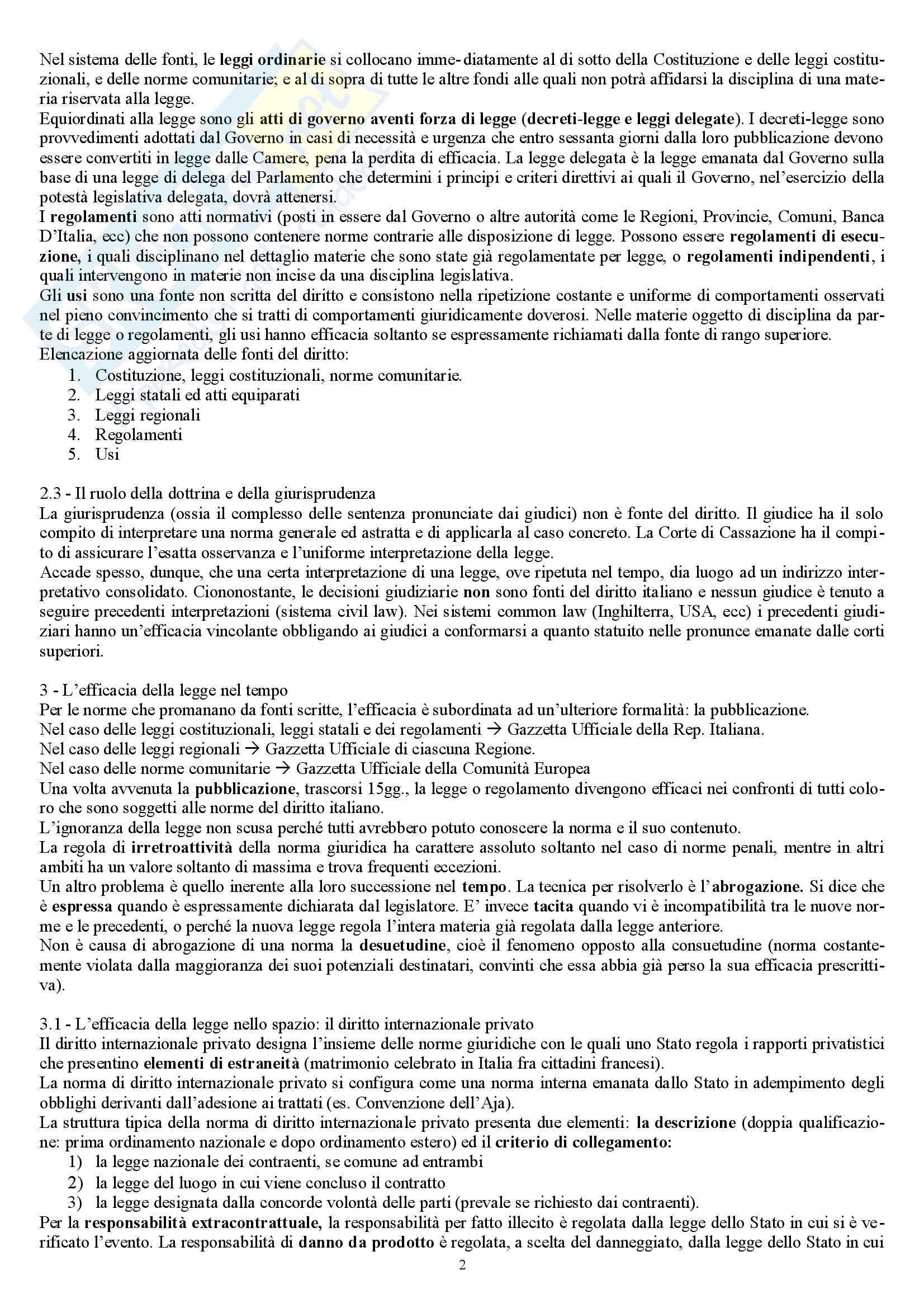 Riassunto esame Diritto Privato, prof. Marella, libro consigliato Manuale di diritto privato, Nivarra Pag. 2