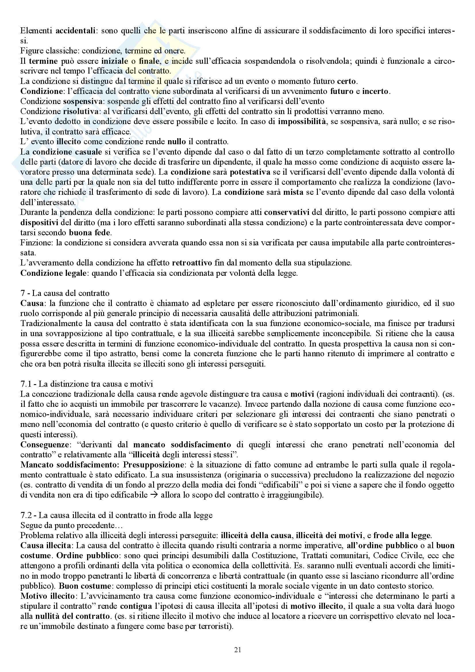 Riassunto esame Diritto Privato, prof. Marella, libro consigliato Manuale di diritto privato, Nivarra Pag. 21