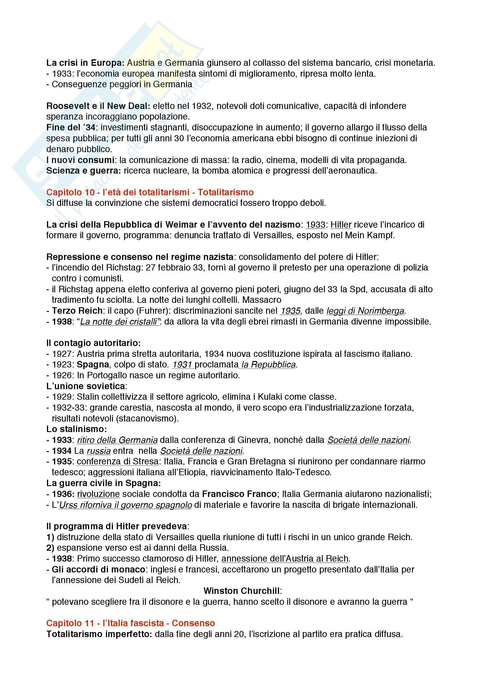 Riassunto esame Storia Contemporanea, prof. Merolla, libro consigliato Storia Contemporanea, Sabbatucci Pag. 6