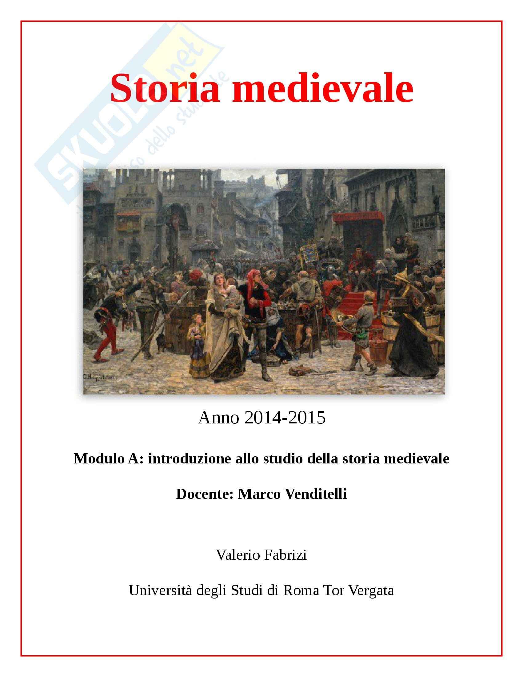 appunto M. Venditelli Storia medievale