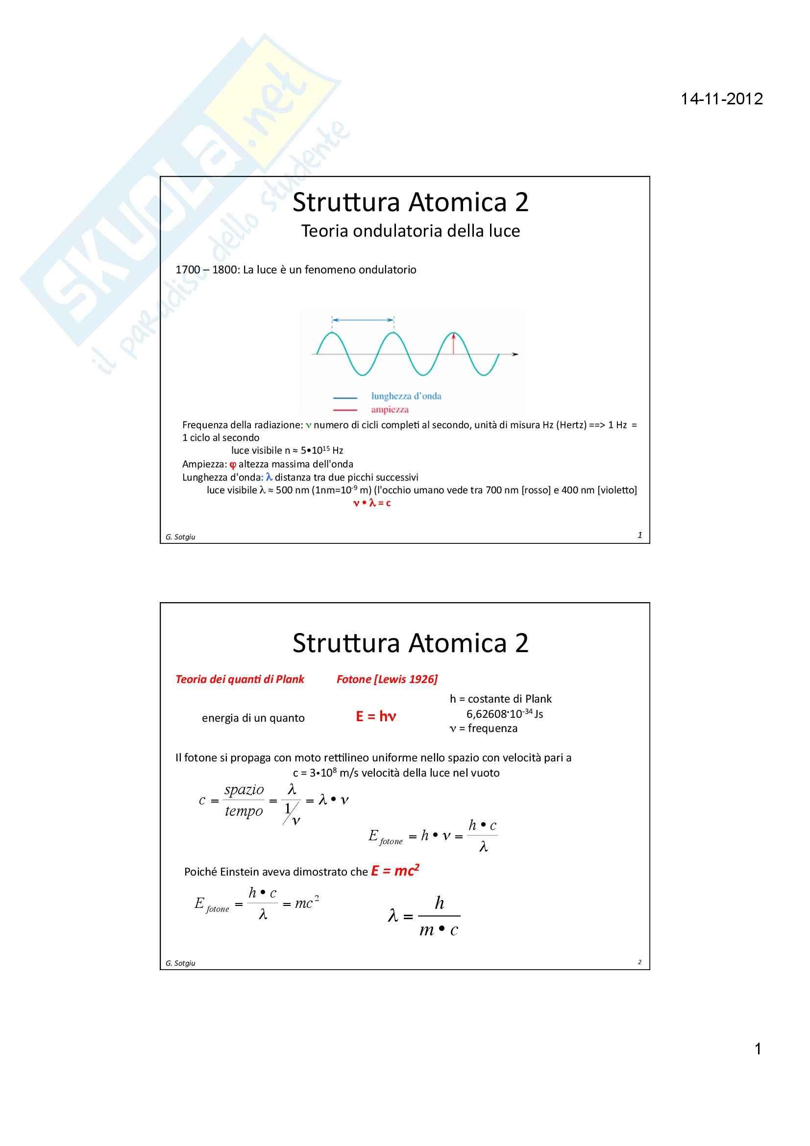 Meccanica Quantistica - Struttura Atomica 2