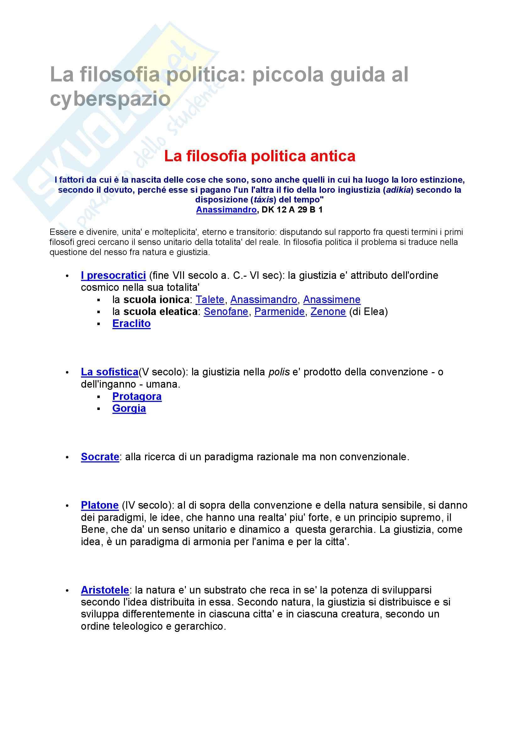 linguaggi politici - la filosofia politica: piccola guida al cyberspazio