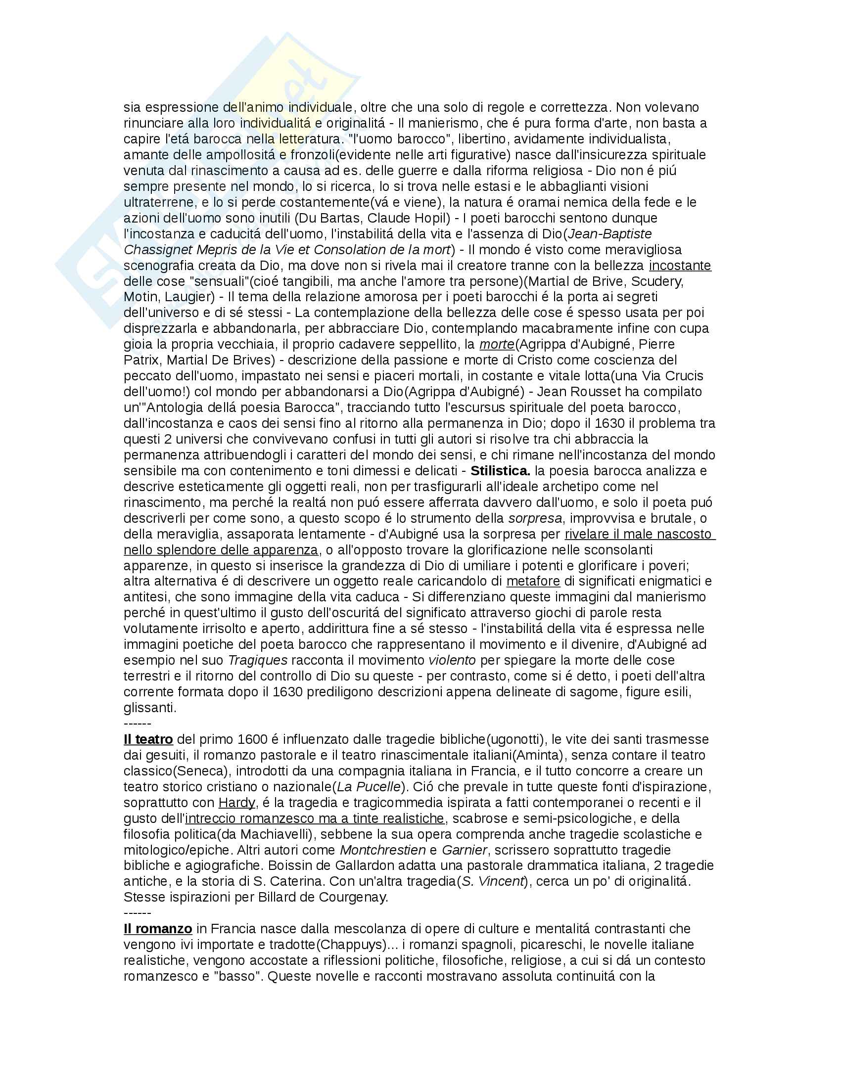 Letteratura francese: 600, 700 Pag. 2