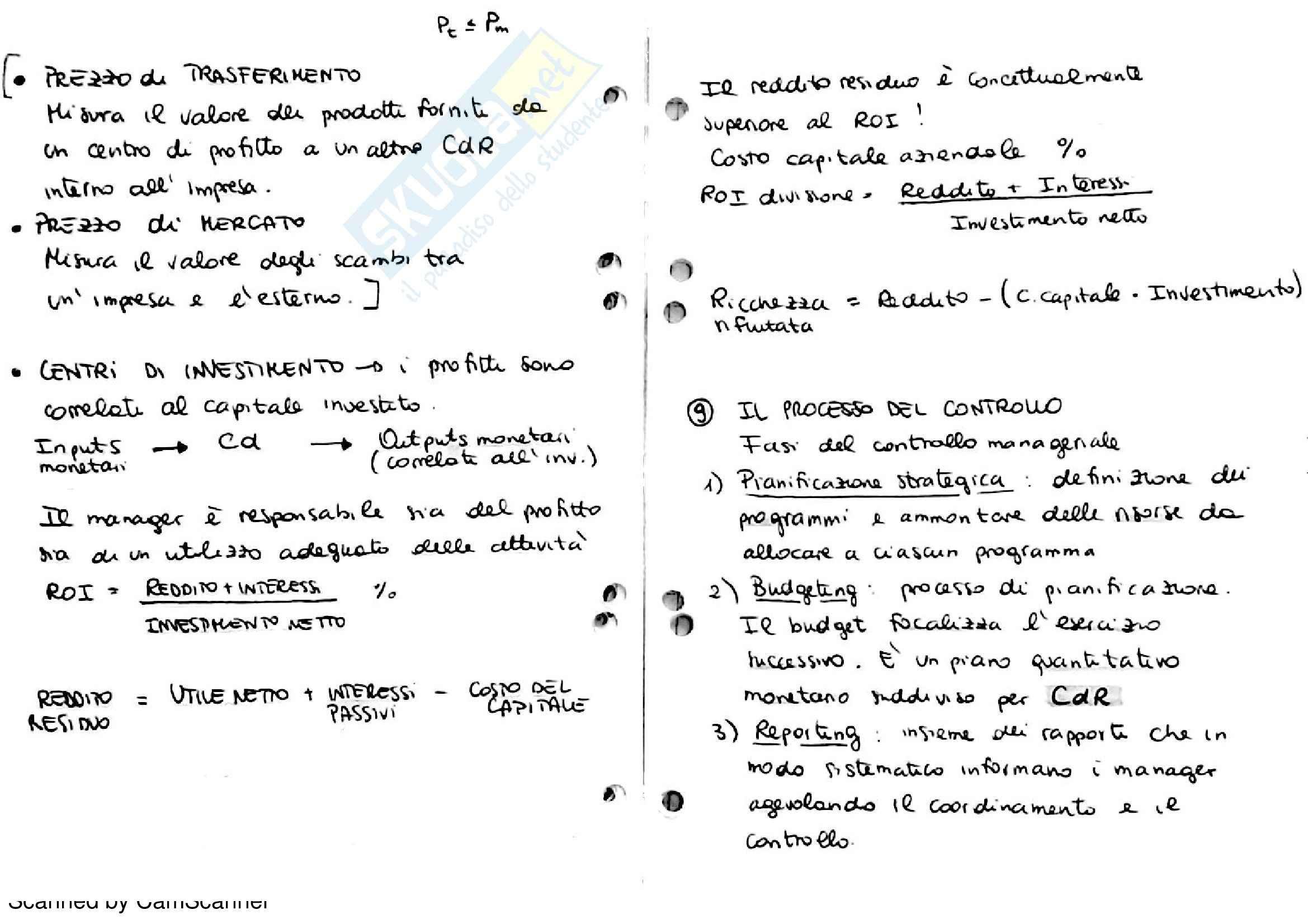 Gestione aziendale - sistemi di controllo di gestione Pag. 16